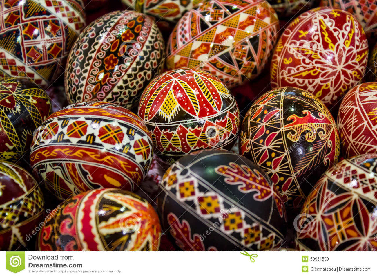Hand Painted Eggs Romania