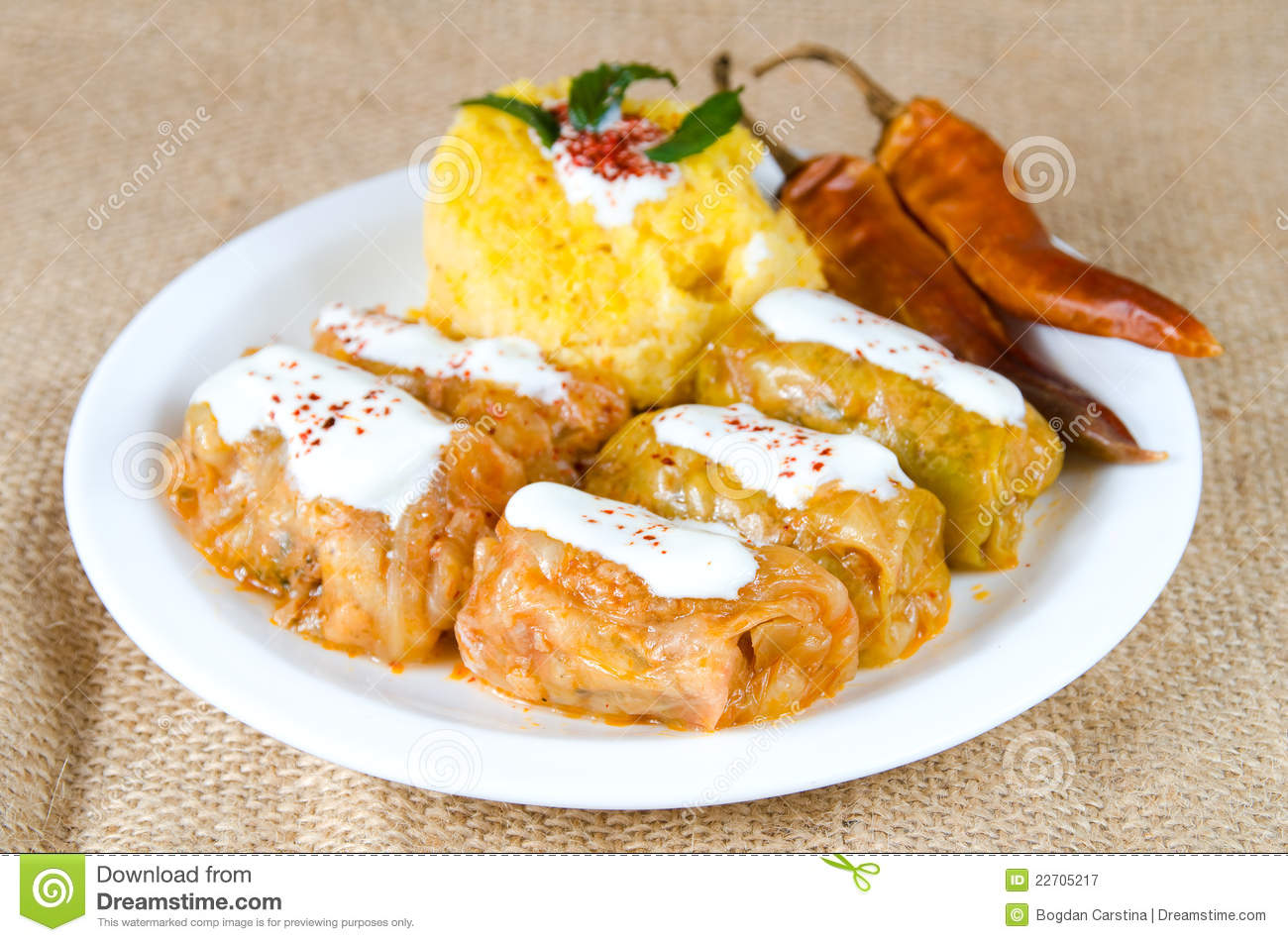 Romanian recipe - Sarmale stock image. Image of meal ...