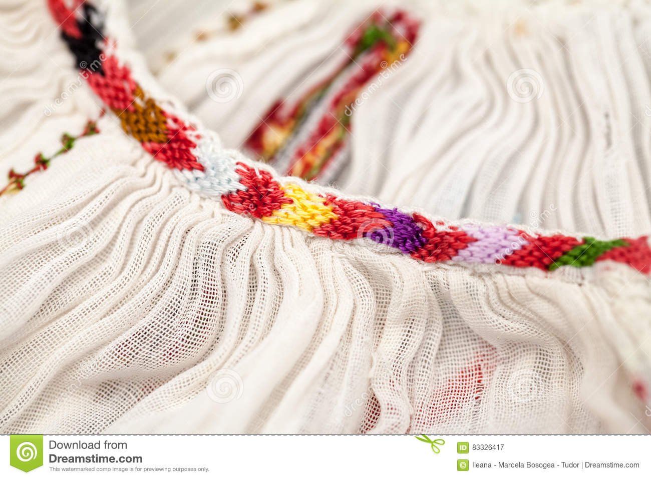Romanian traditional blouse textures and traditional motifs stock image - Beautiful romanian folk motifs ...