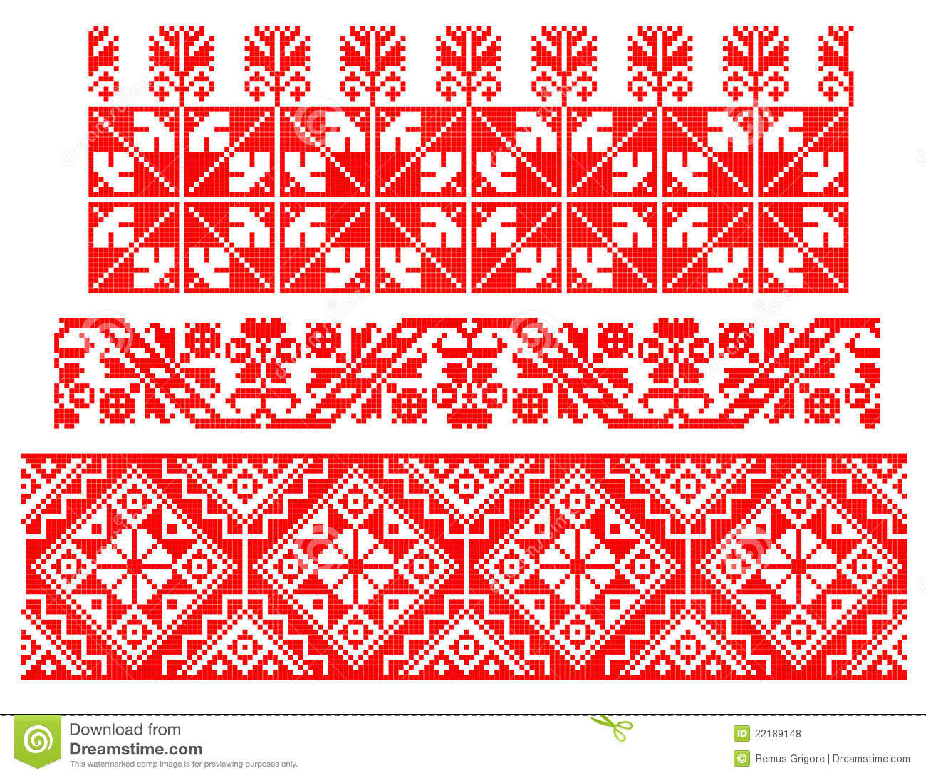 Romanian Traditional Carpet Theme Stock Illustration Image 22189148