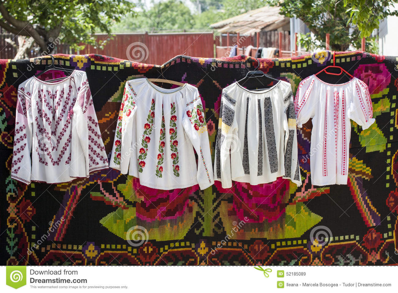 Traditional Romanian Clothes Stock Image 50714683