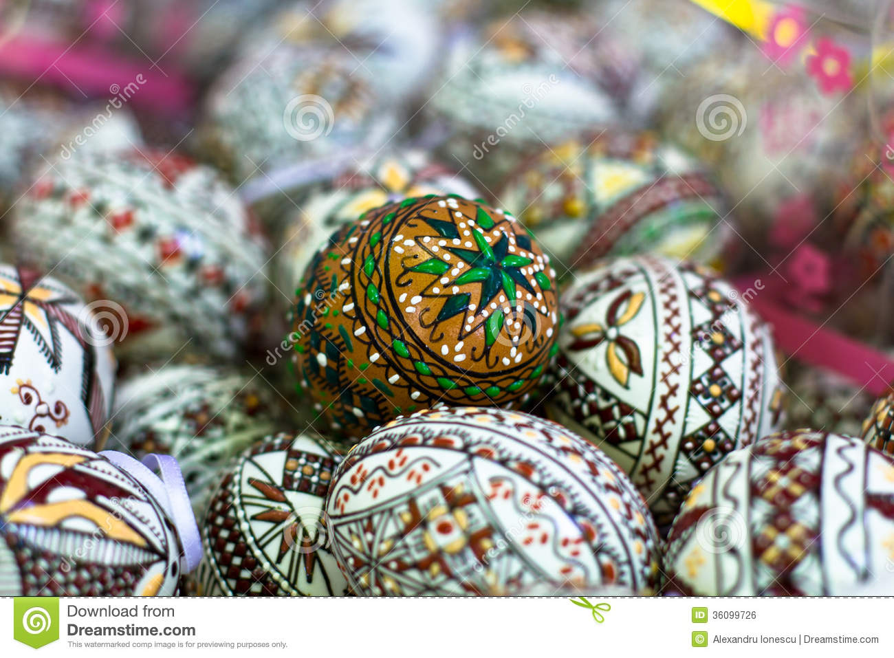 Romanian Traditional Easter Eggs Stock Photo Image Of Symbolism