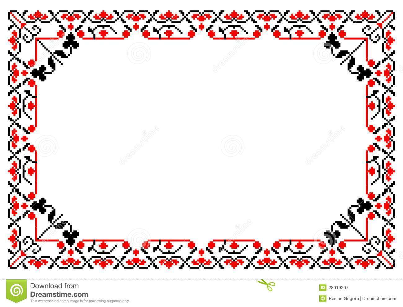 Romanian traditional frame - cdr format