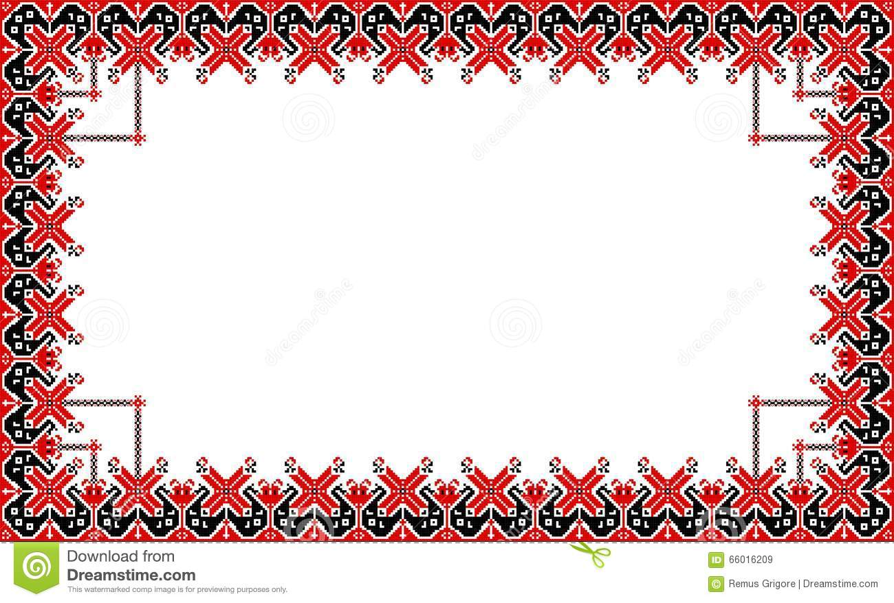 Romanian Traditional Frame Cdr Format Stock Vector