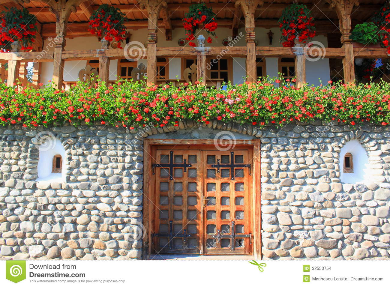 Romanian Traditional House In Maramures Stock Photo Image 32553754
