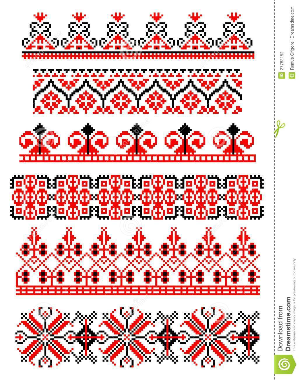 Romanian Traditional Theme Cdr Format Stock Vector Image 27783152