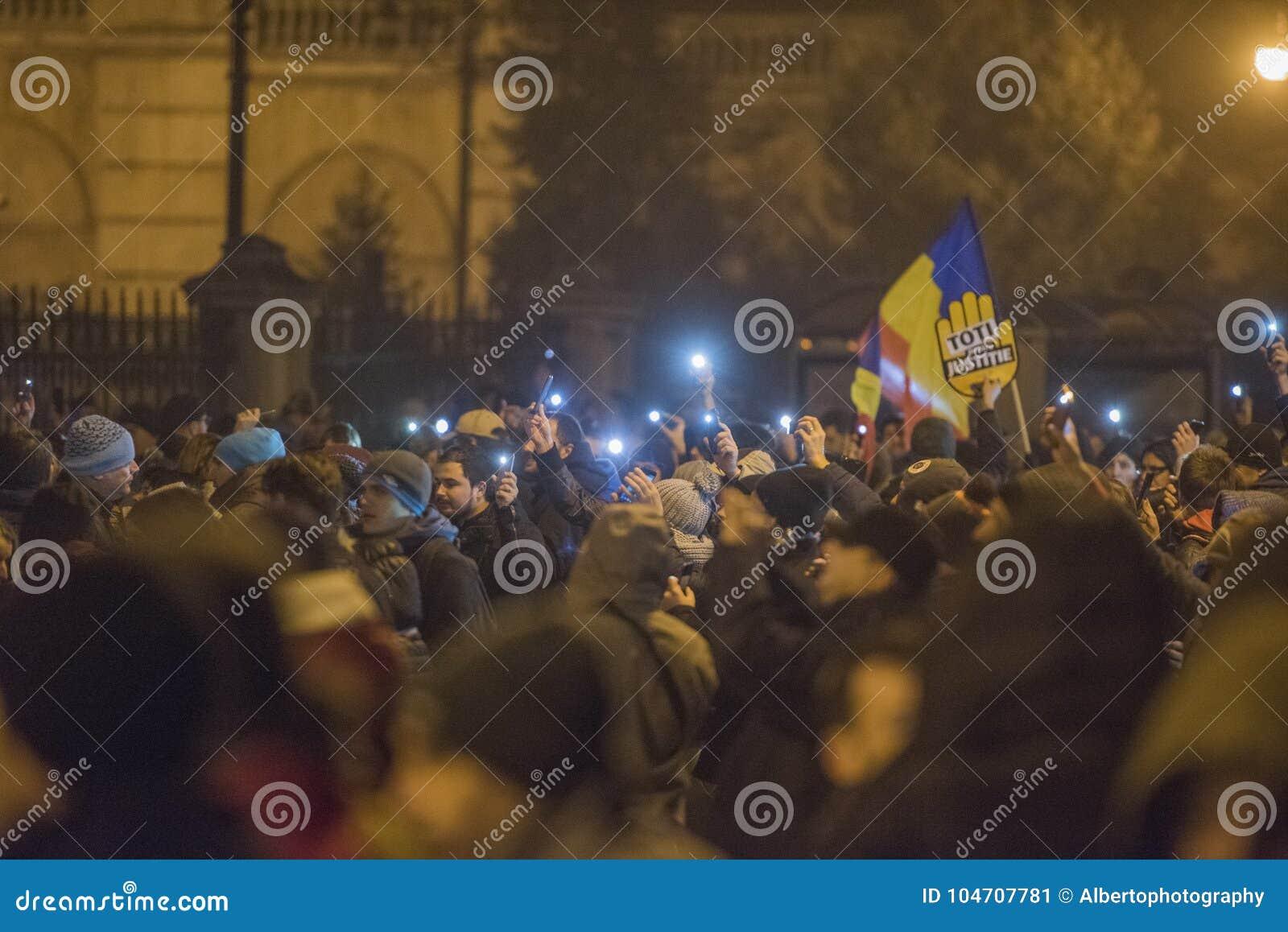 Romanians protest przeciw rzędowi