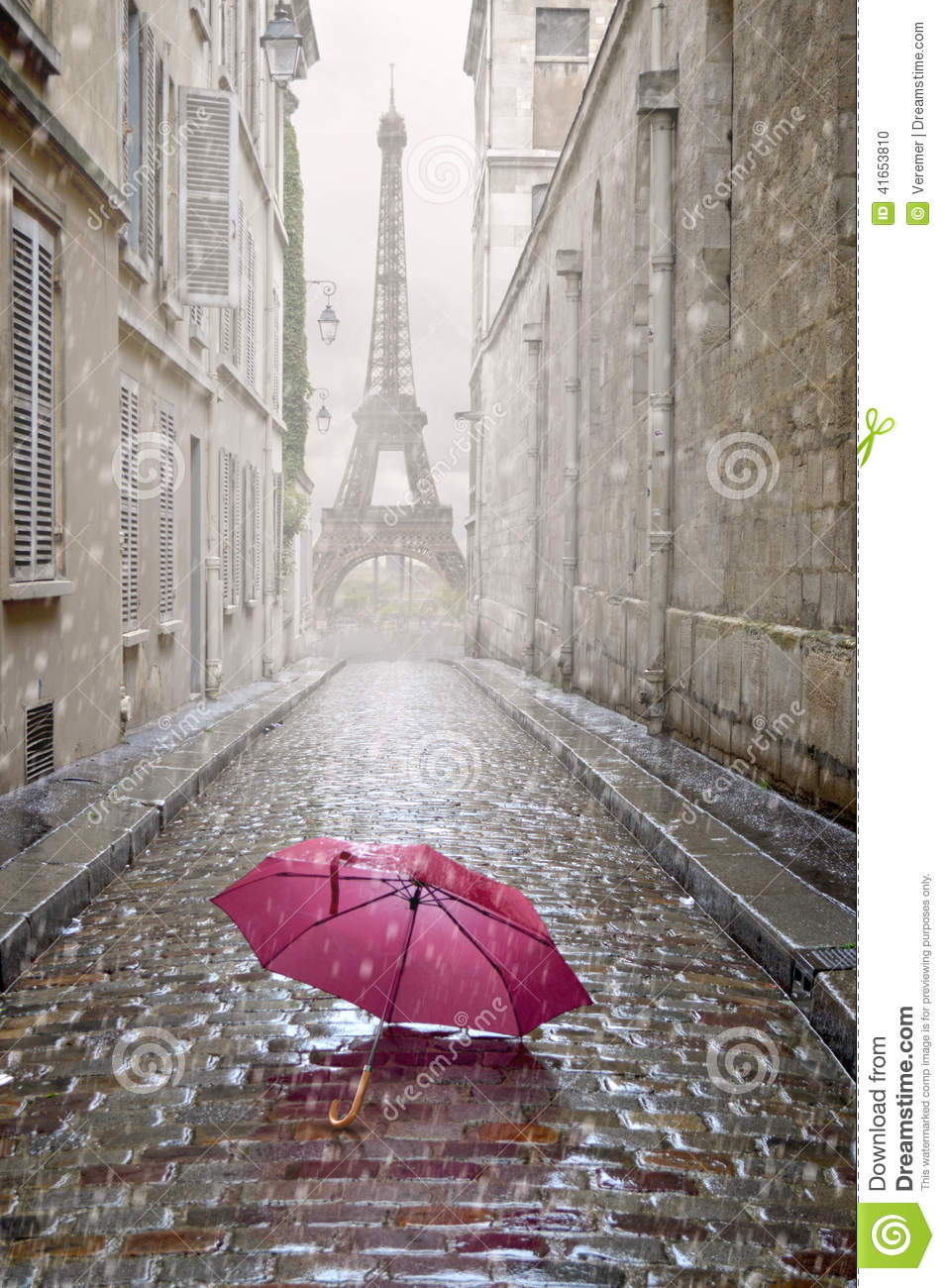 Umbrella Clipart Black And White Romantic Alley On A Ra...