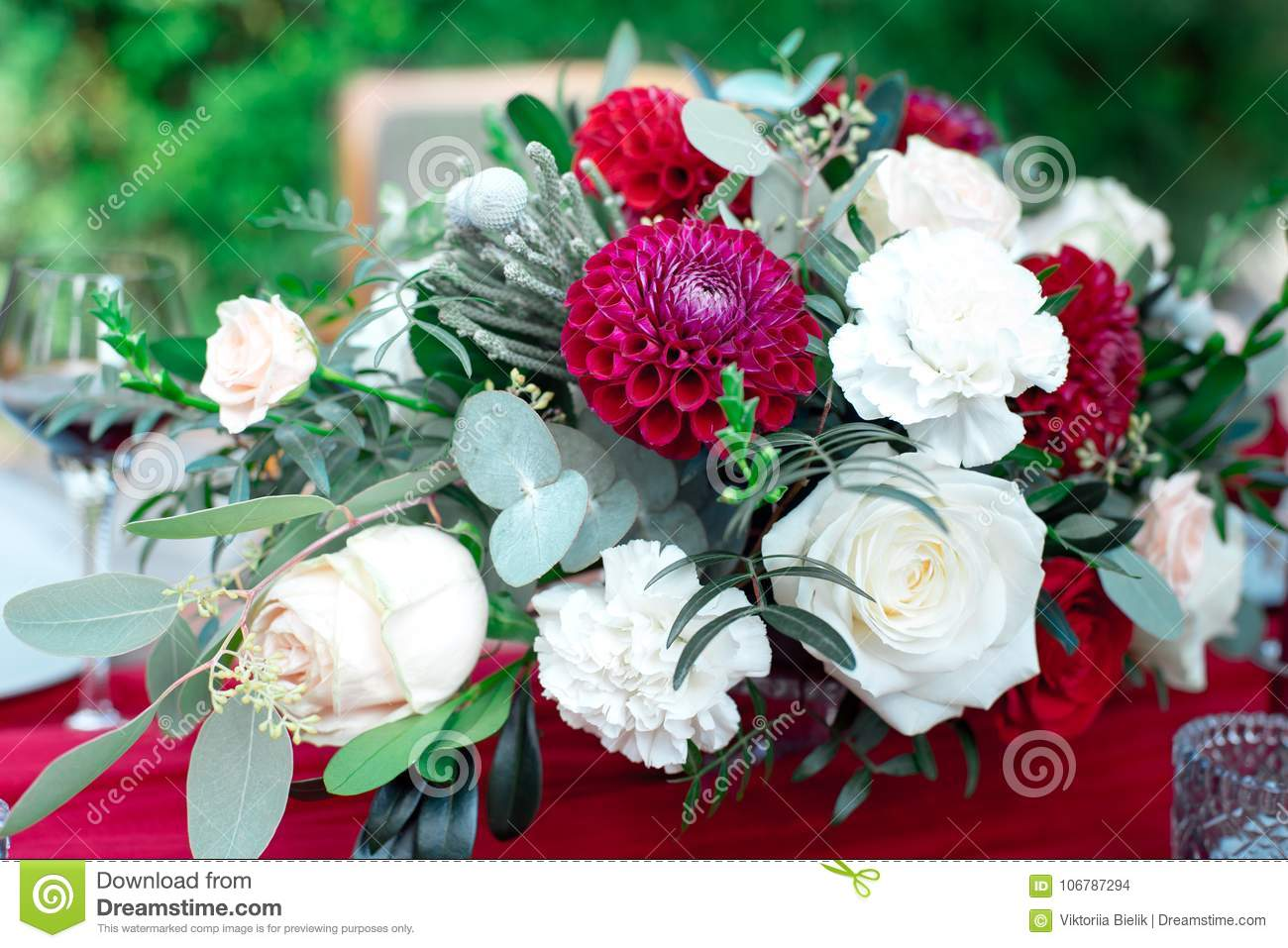 Romantic arrangement of red and white flowers stock photo image of download romantic arrangement of red and white flowers stock photo image of celebration decoration mightylinksfo