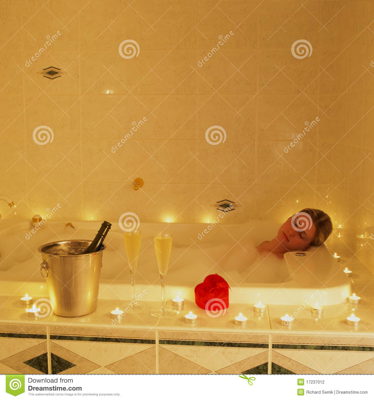 Romantic bath stock photo image of cleanliness for Bathroom romance photos