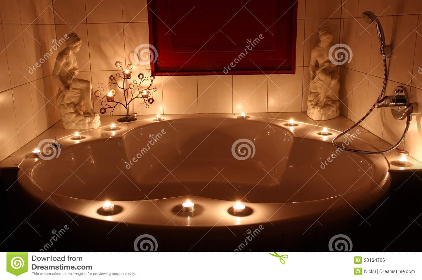 romantic bathtub stock photography 20134706. Black Bedroom Furniture Sets. Home Design Ideas