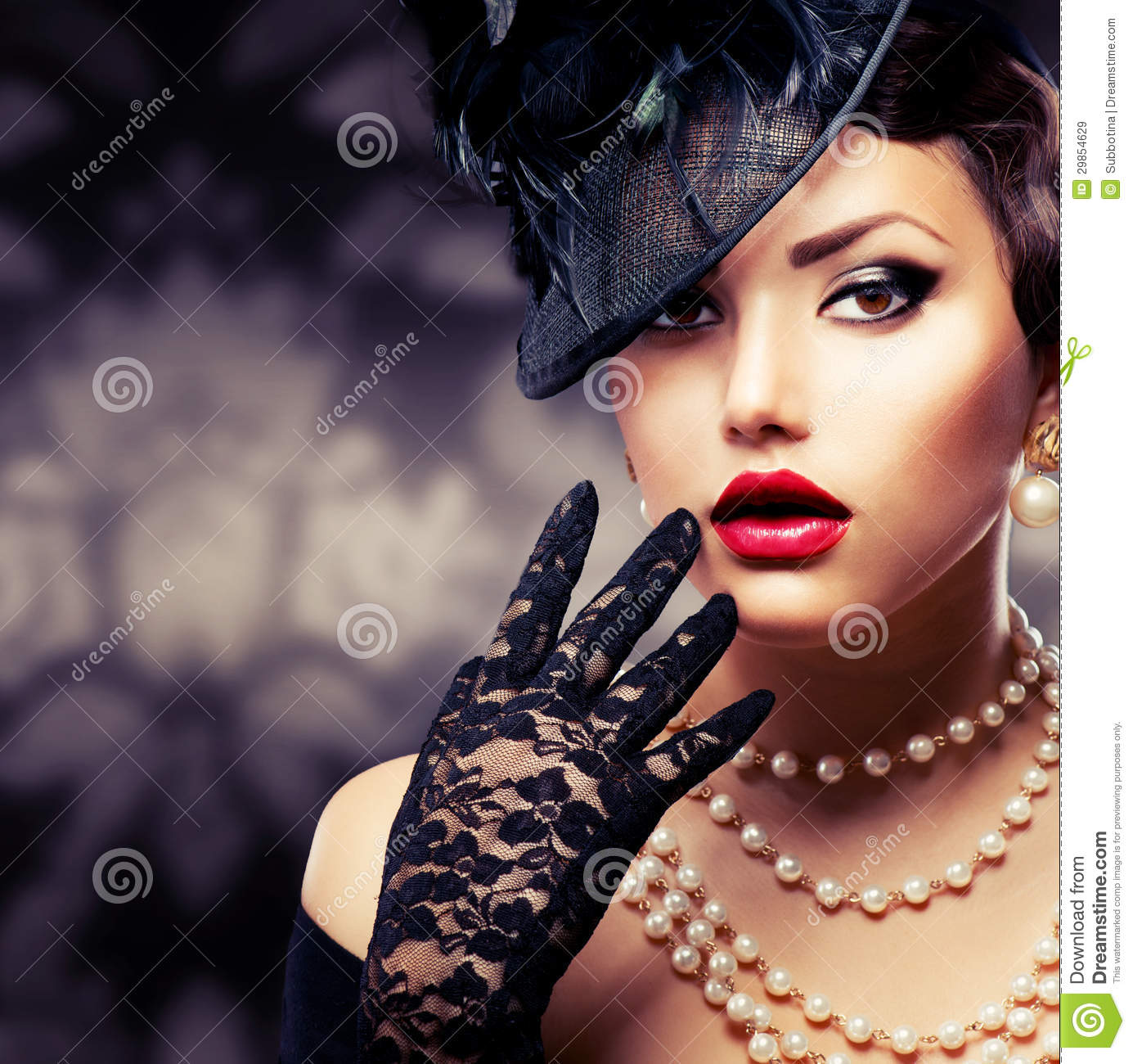 Romantic Beauty. Retro Style Royalty Free Stock Images ...