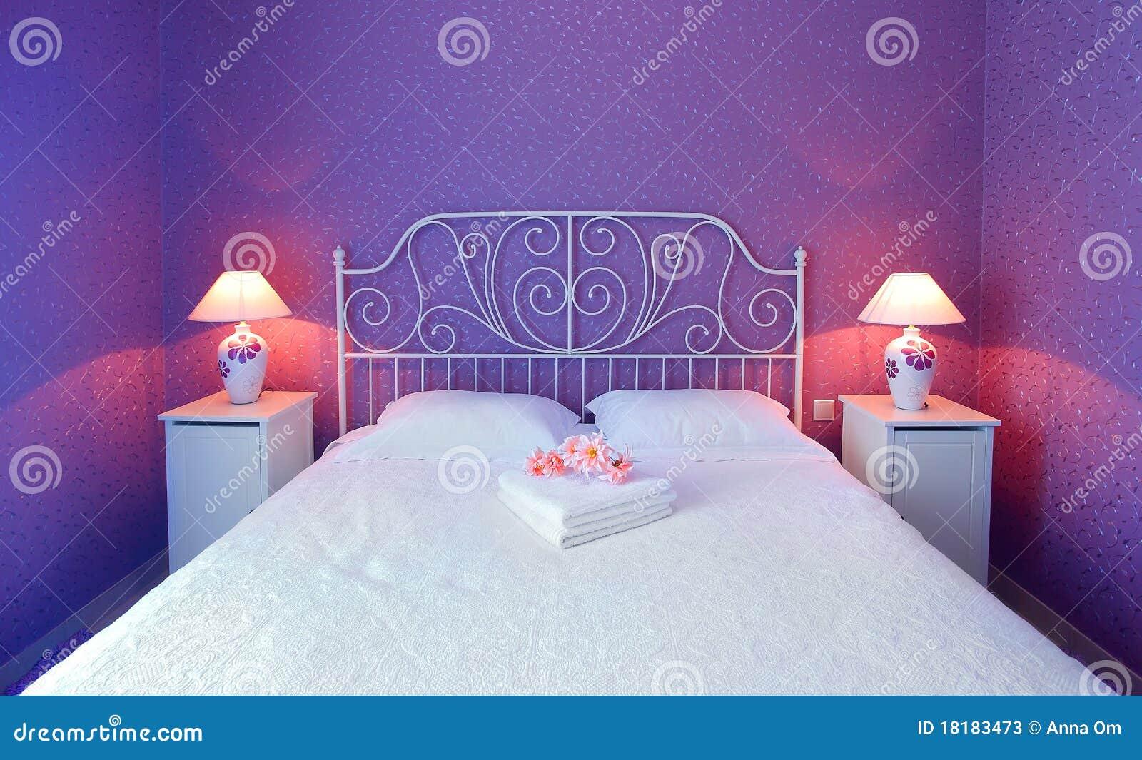 Romantic bedroom stock image Image of decorative