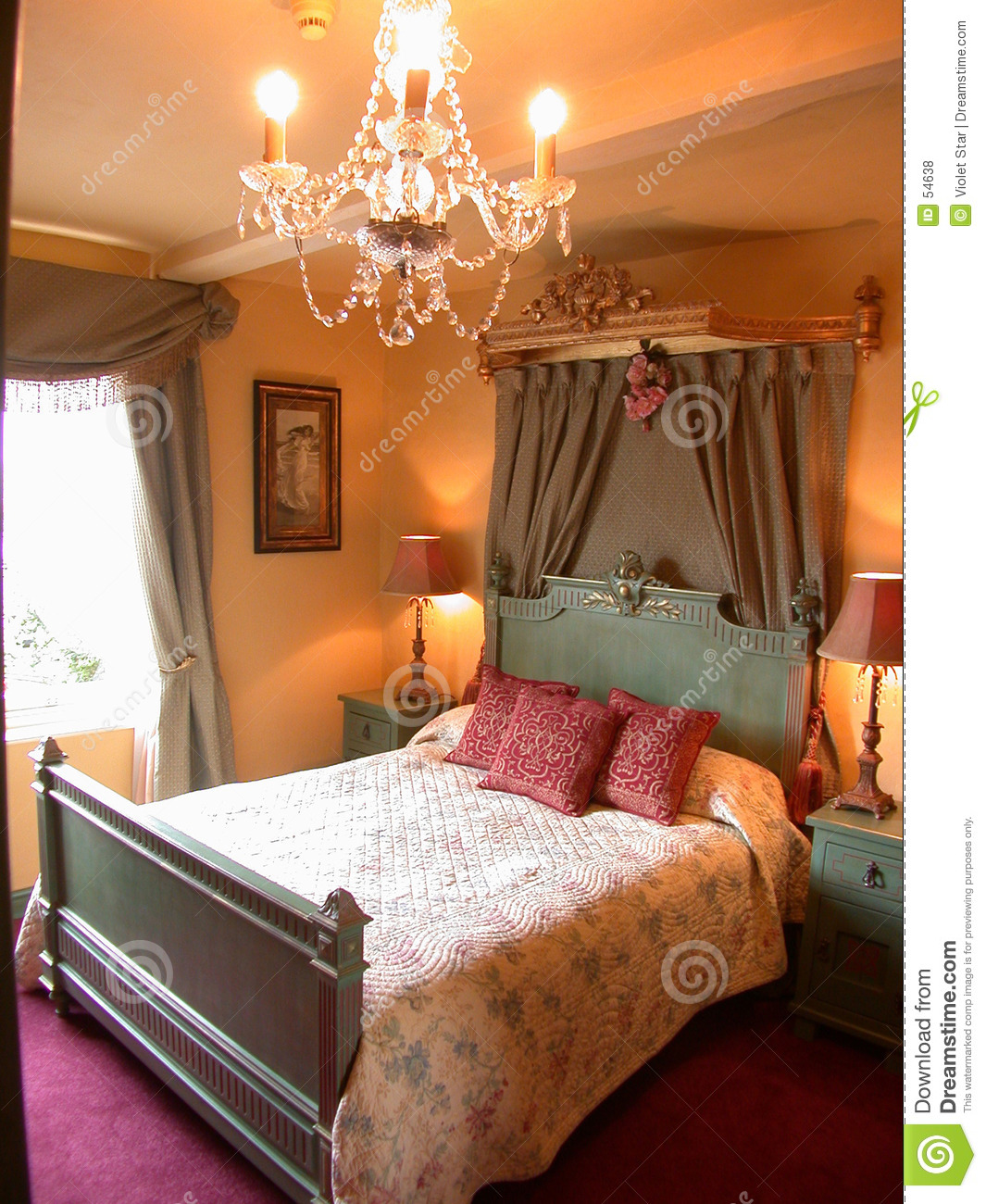 Romantic Bedroom Royalty Free Stock Photos Image 54638