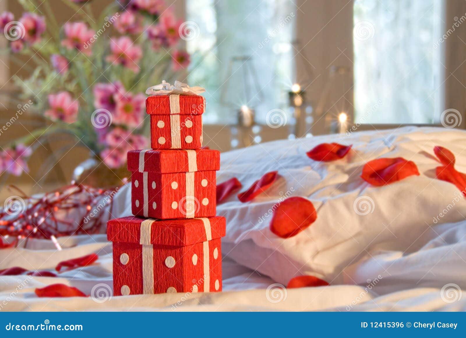 Bedroom romantic scene