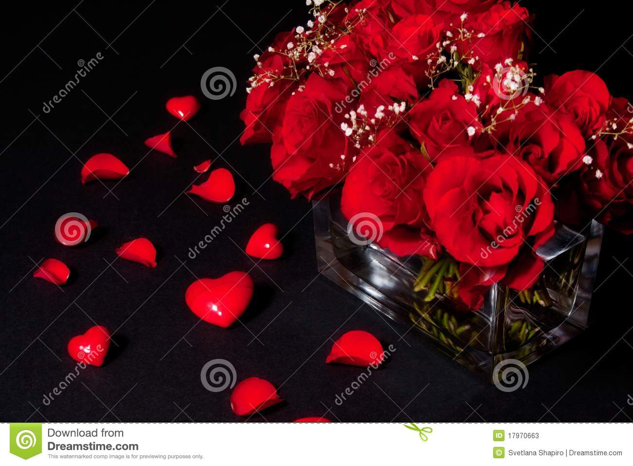 romantic bouquet of red roses stock photos  image, Beautiful flower