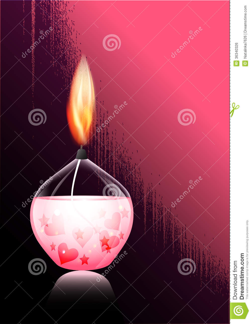 Romantic Candle Royalty Free Stock Image - Image: 36340326