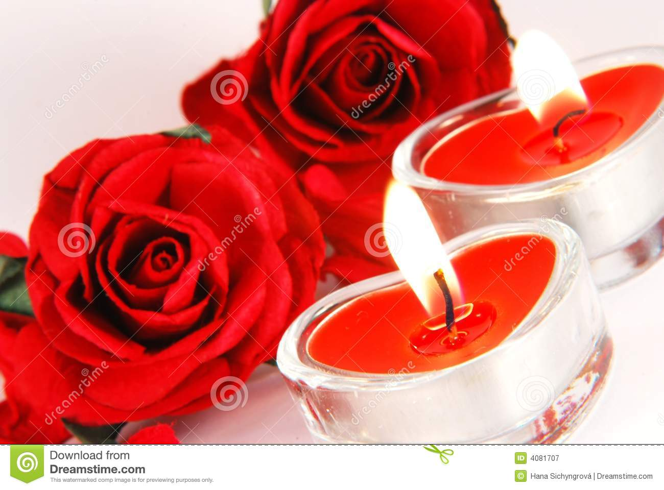 Romantic Candles Stock Image Image Of Invitation Date
