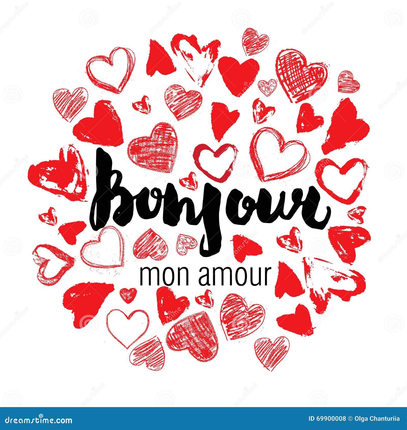 Romantic Card, Poster, Mug, T-shirt Print. Hello, My Love