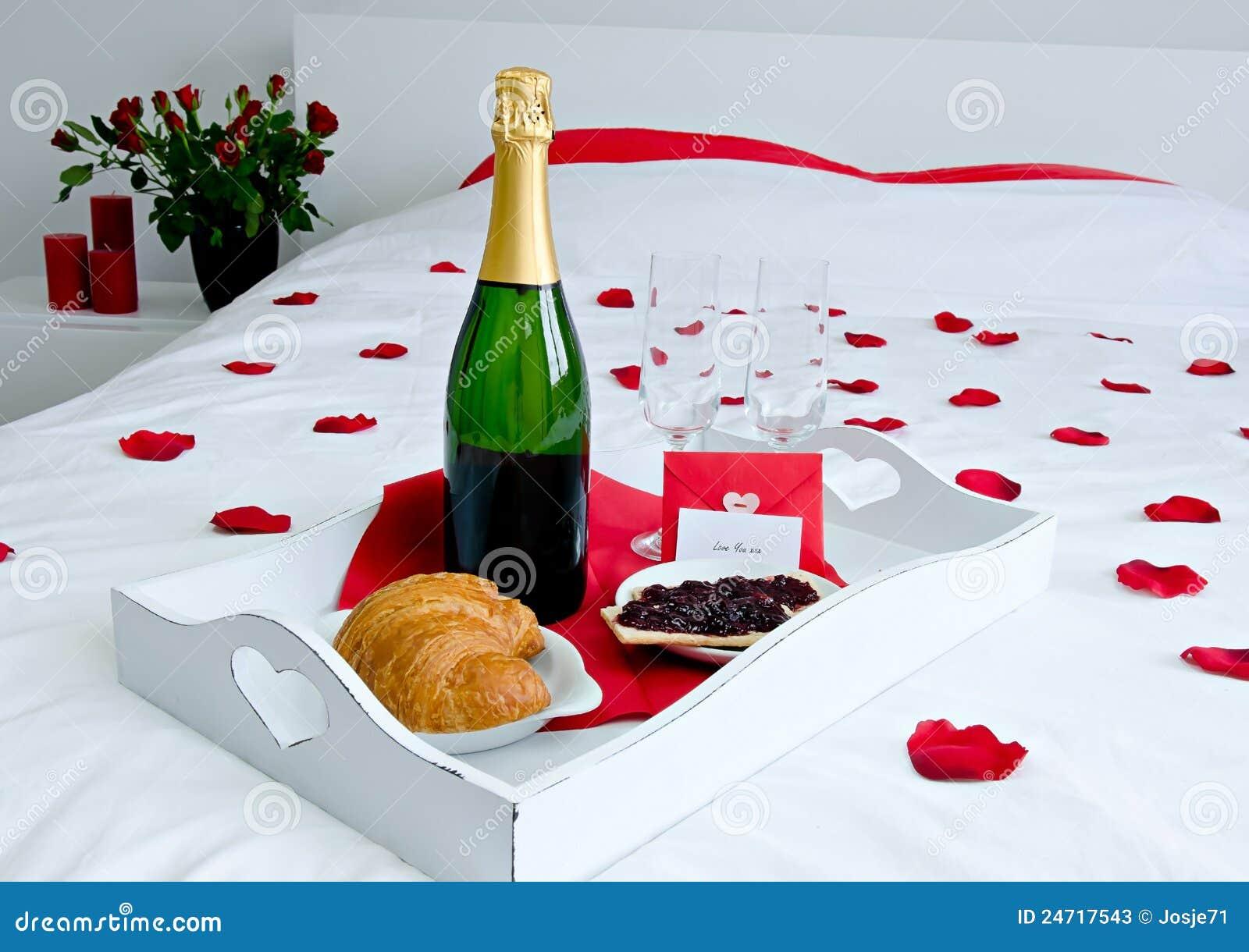 Champagne Breakfast In Bed