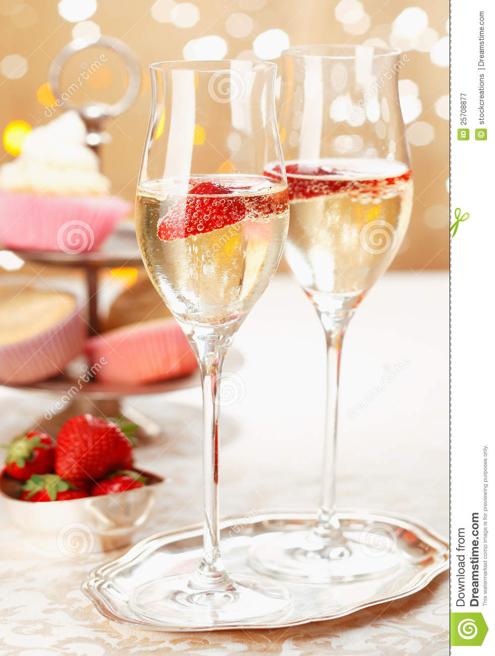 Romantic Champagne And Strawberries Stock Image Image