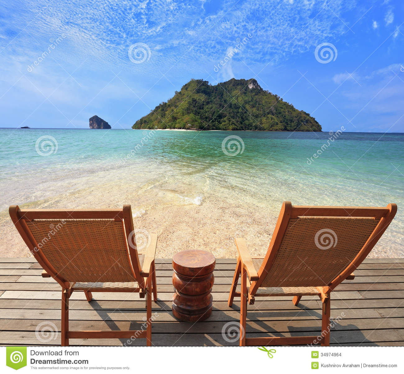 Romantic Corner On The Beach Stock Images - Image: 34974964