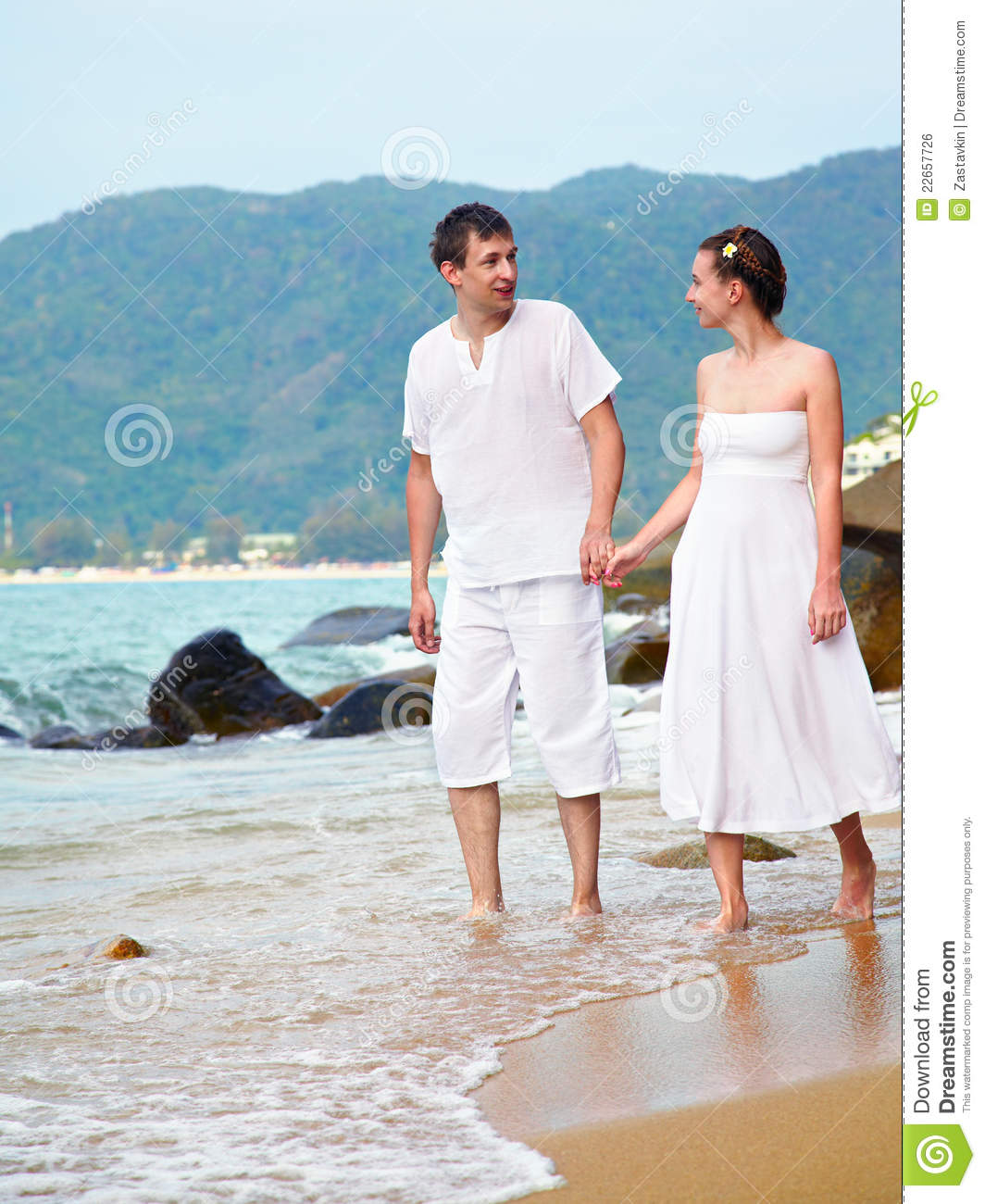 Romantic Couple At Beach Stock Photo. Image Of Holiday