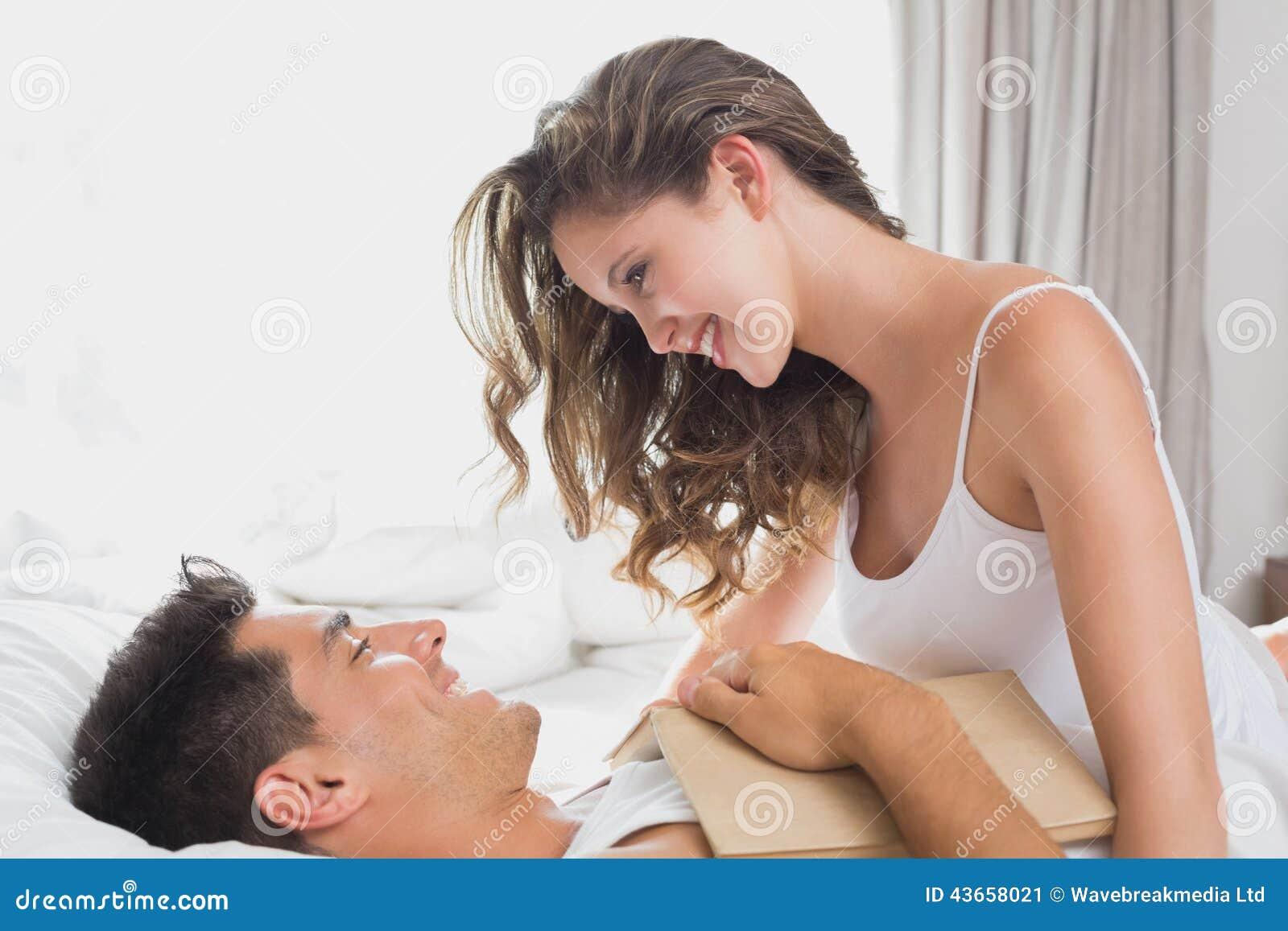 Romantic couple in bed. Romantic Couple In Bed At Home Stock Photo   Image  43658021