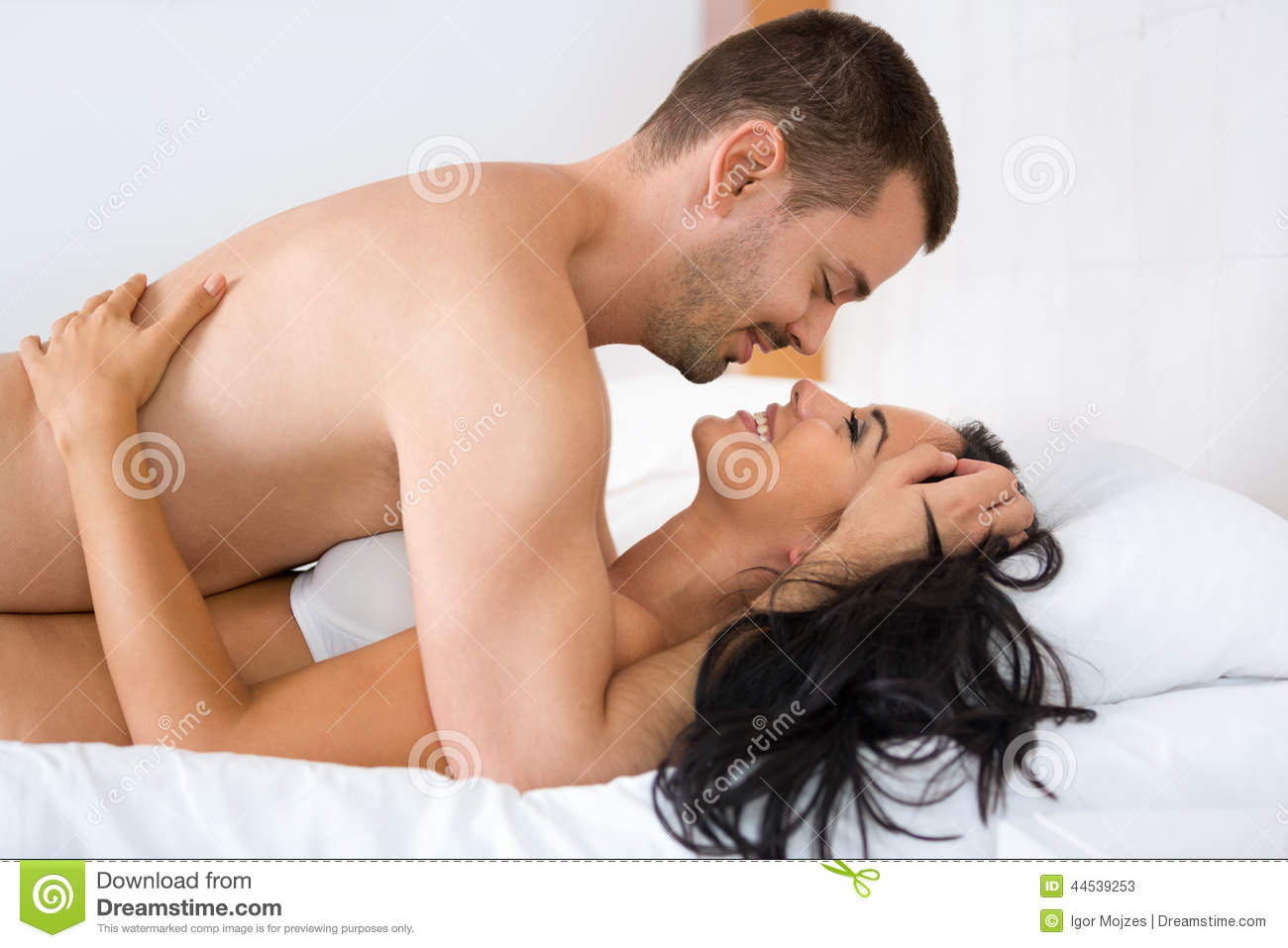 Young romantic couples having sex