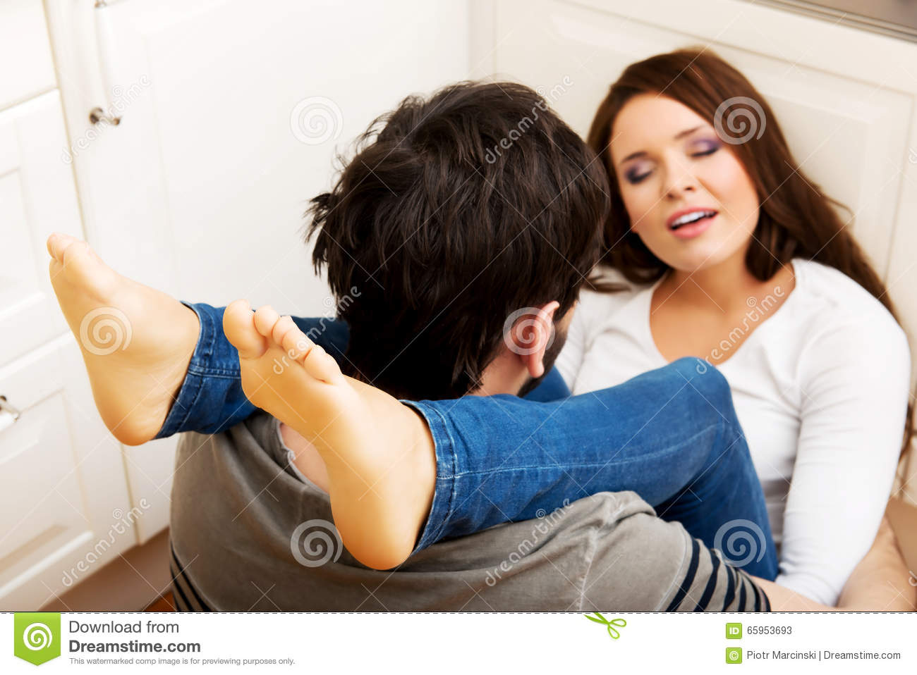 image Young couple having passionate sex on the bed