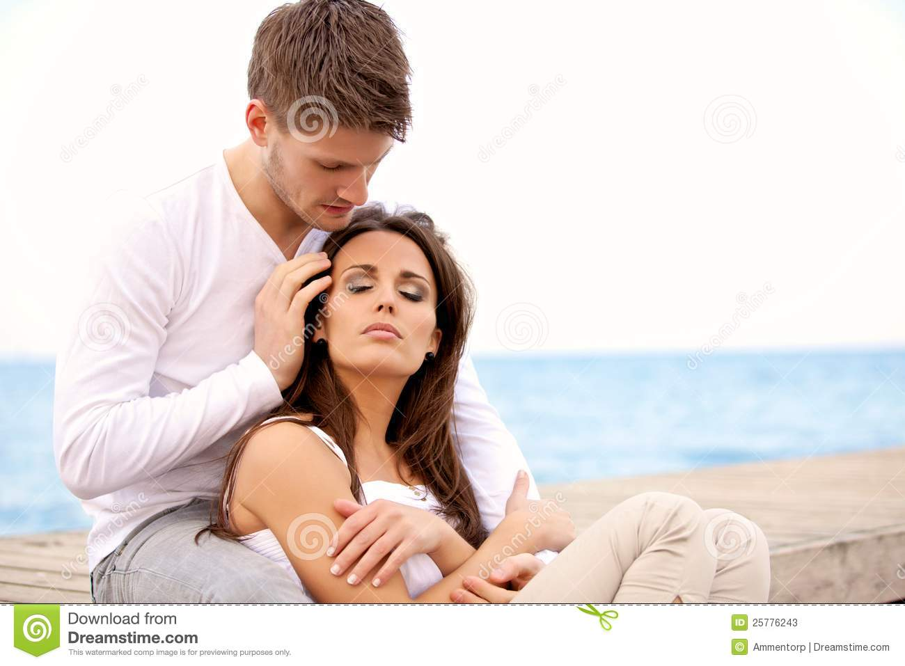 Romantic Couple Sitting Together Stock Photos - Image: 25776243