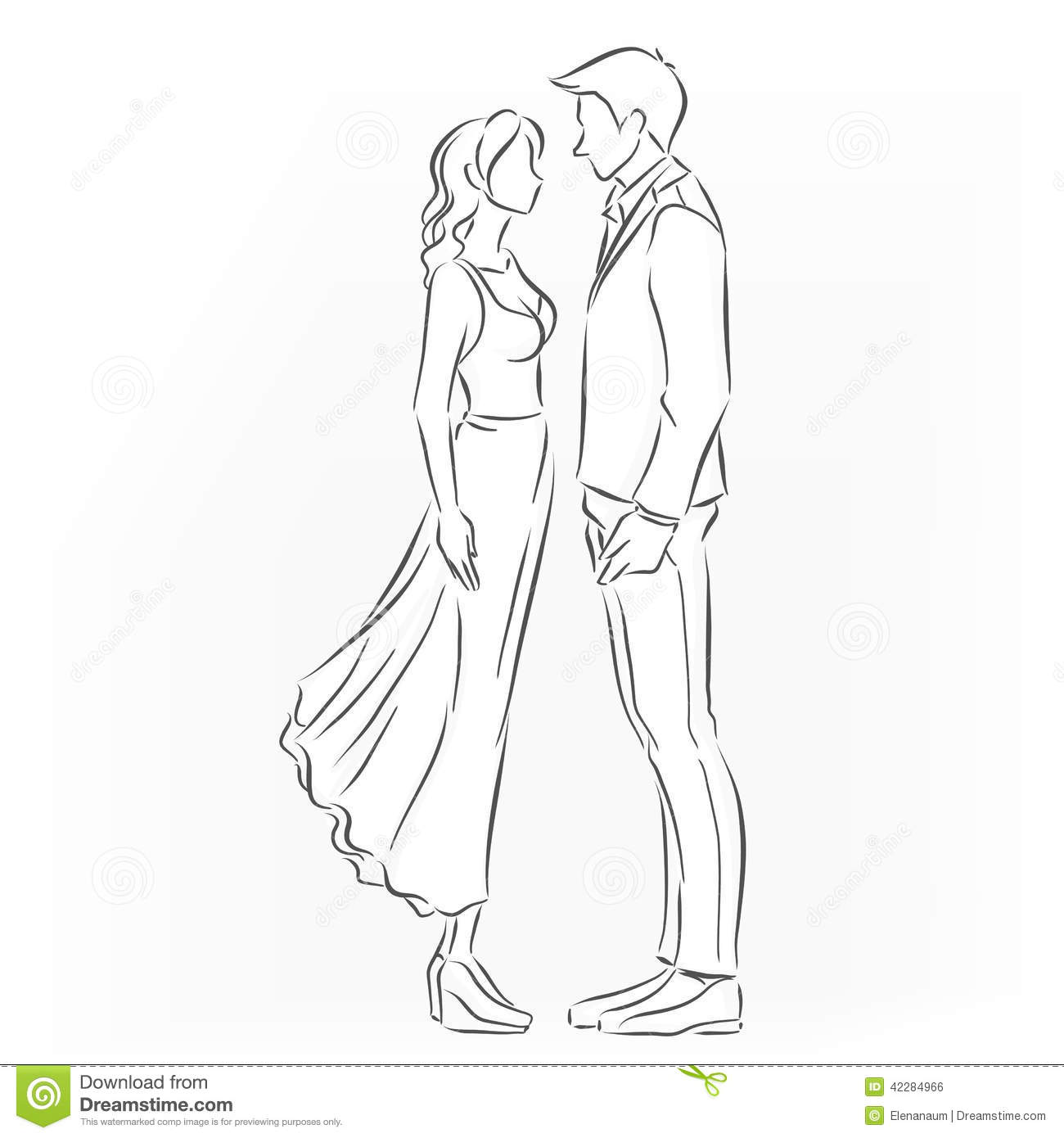 Romantic Couple That Want To Kiss Stock Vector - Image ...