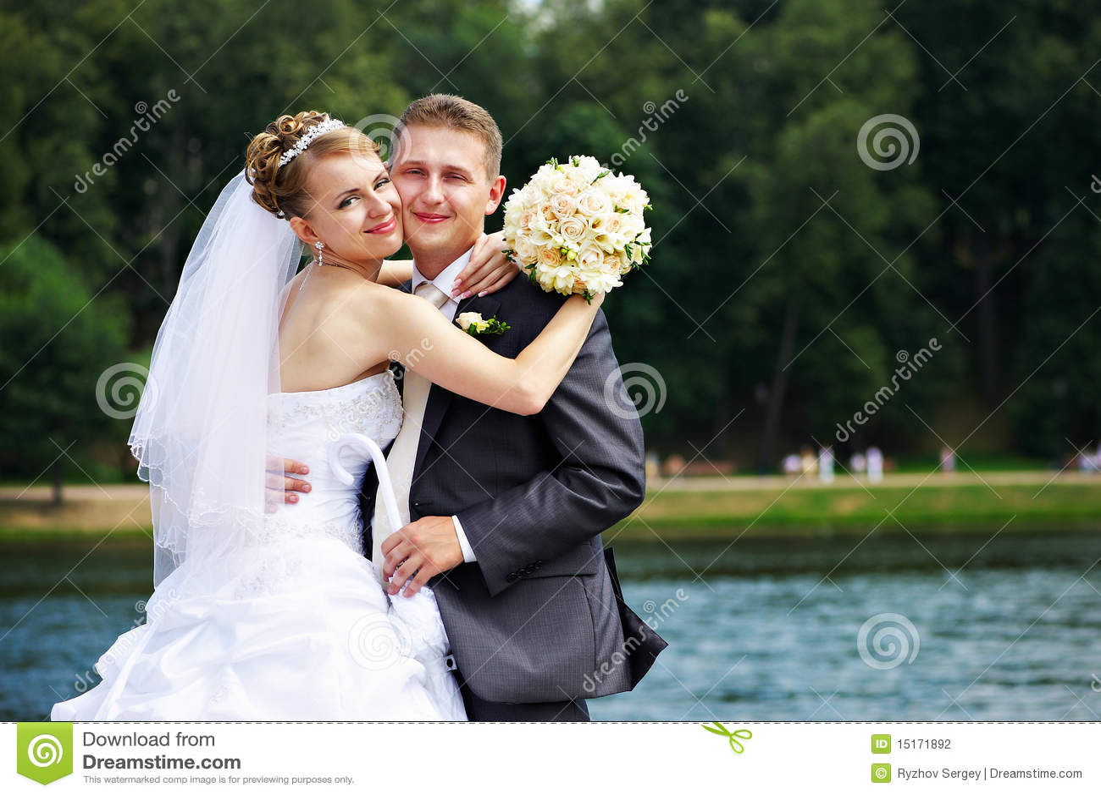 Romantic Couples At Wedding Walk