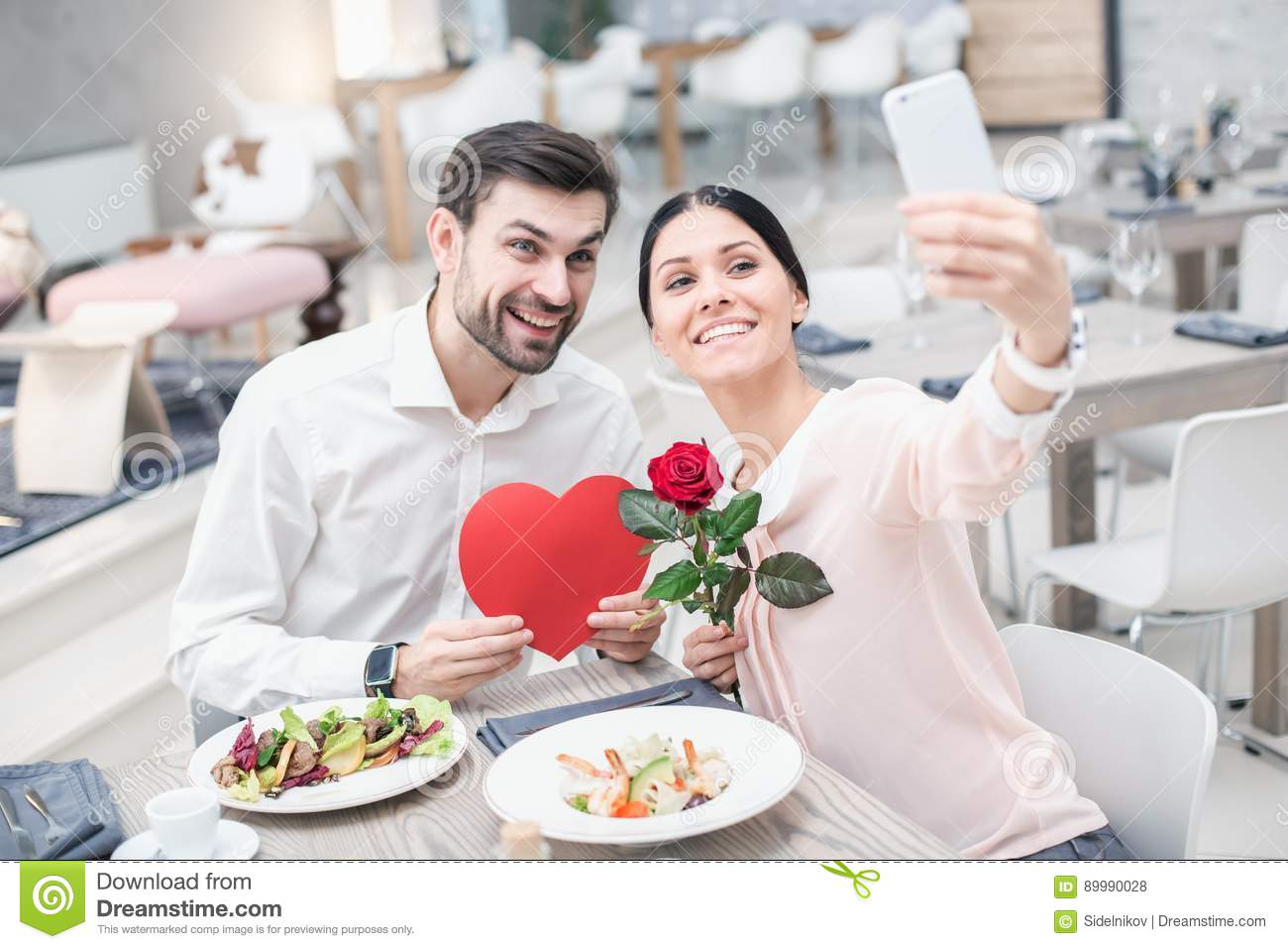 Romantic Date In Luxury Restaurant Stock Photo Image Of Dating Lifestyle 89990028
