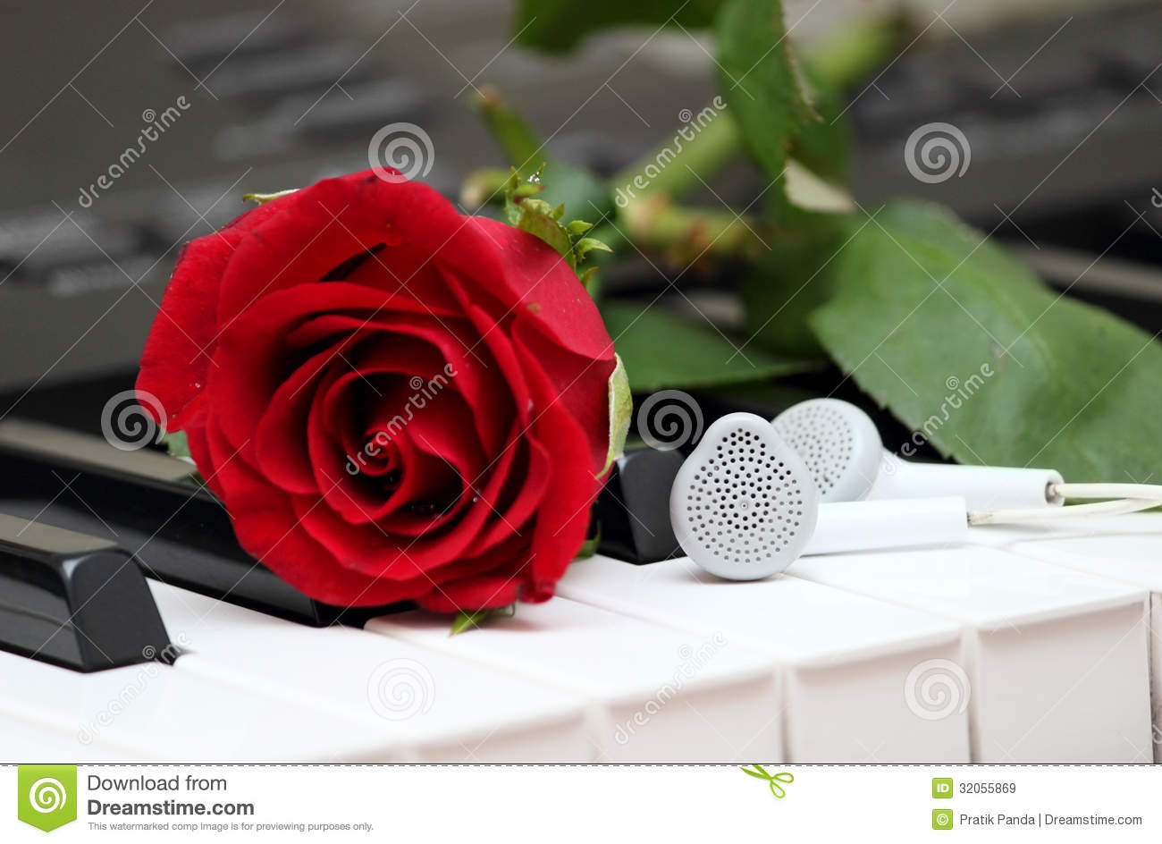 Romantic Digital Instrumental Music Stock Image - Image of pair