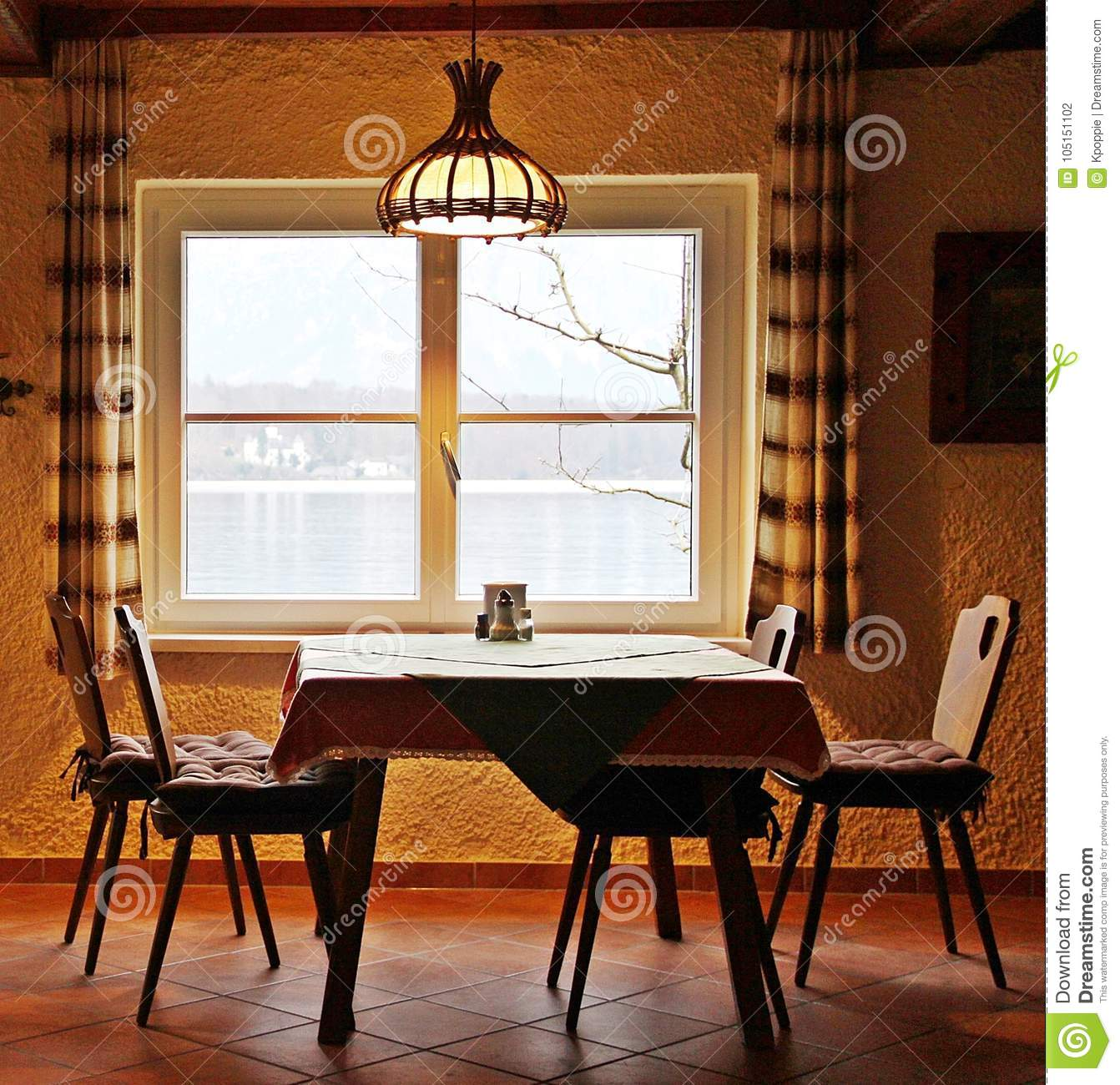 Romantic Dining Room Stock Photo Image Of Wood