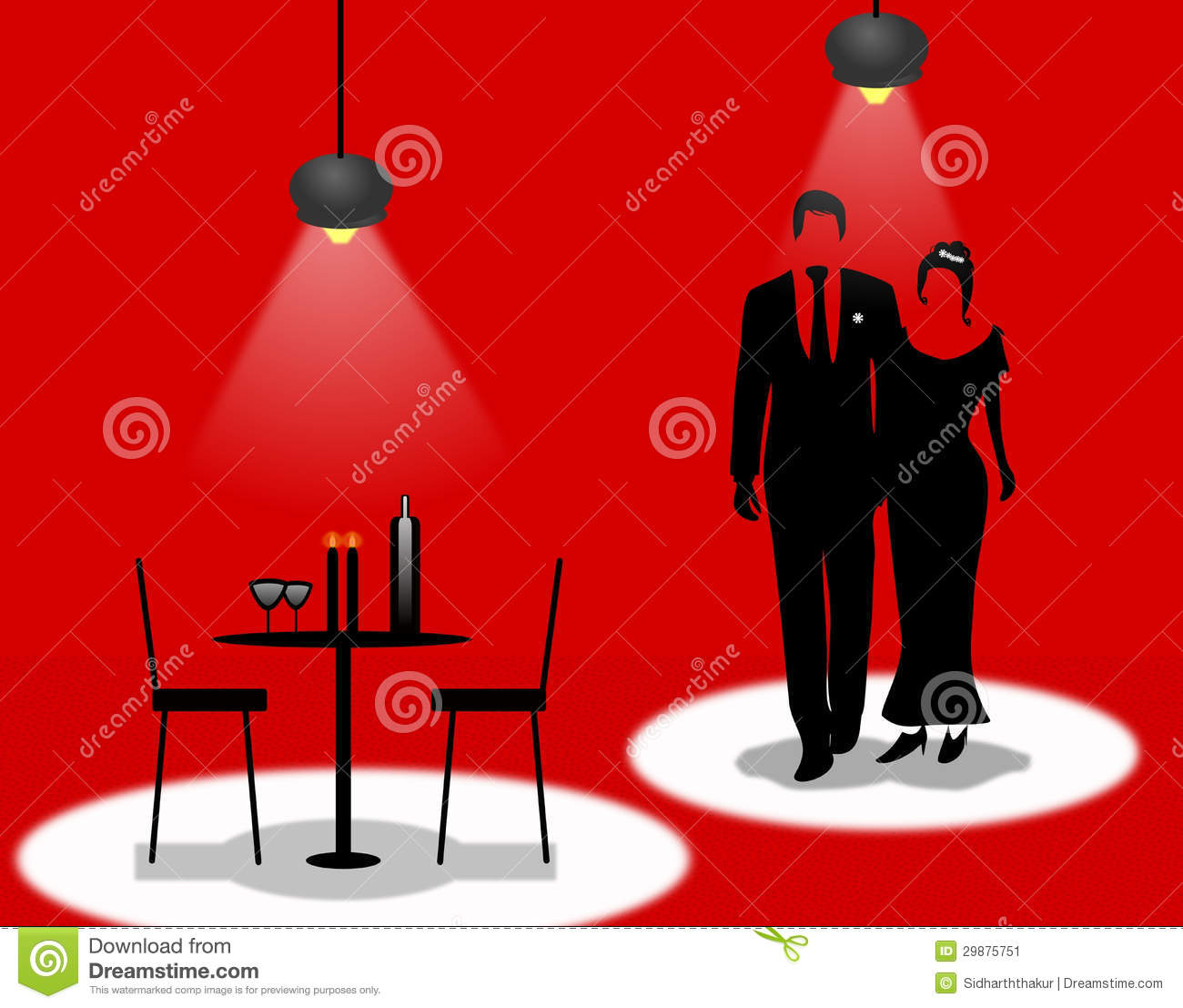 A Romantic Dinner Date Stock Image Image 29875751