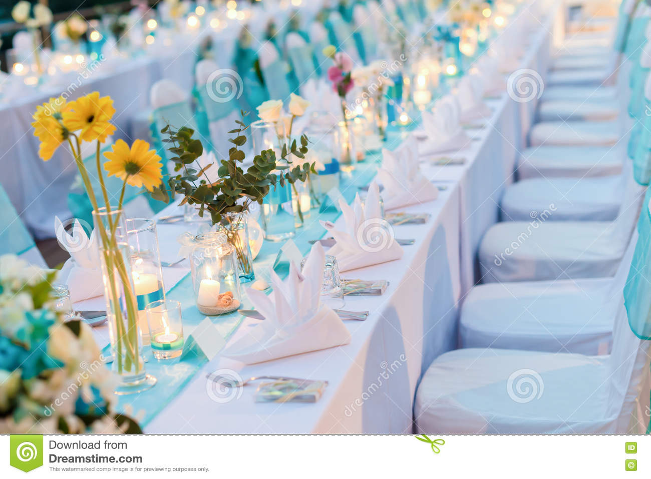 Romantic Dinner Setup Wedding Stock Image Image Of Event