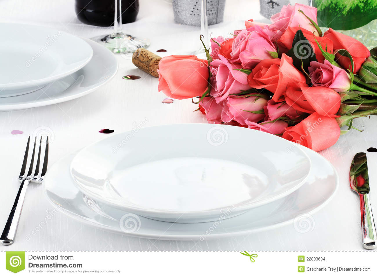 Romantic Dinner For Two Stock Images - Image: 22893684