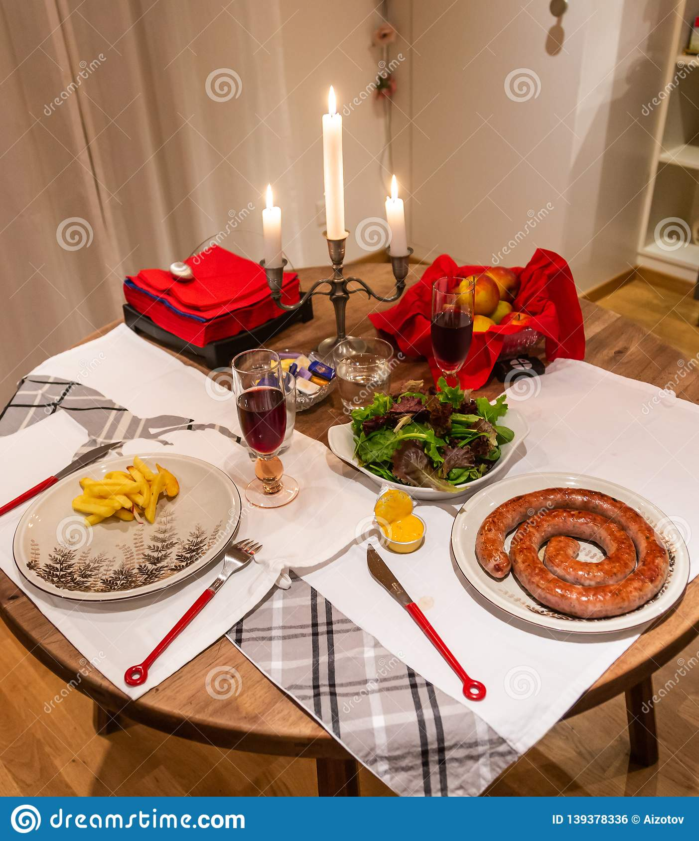 Romantic dinner for two by candlelight in Bern, Switzerland