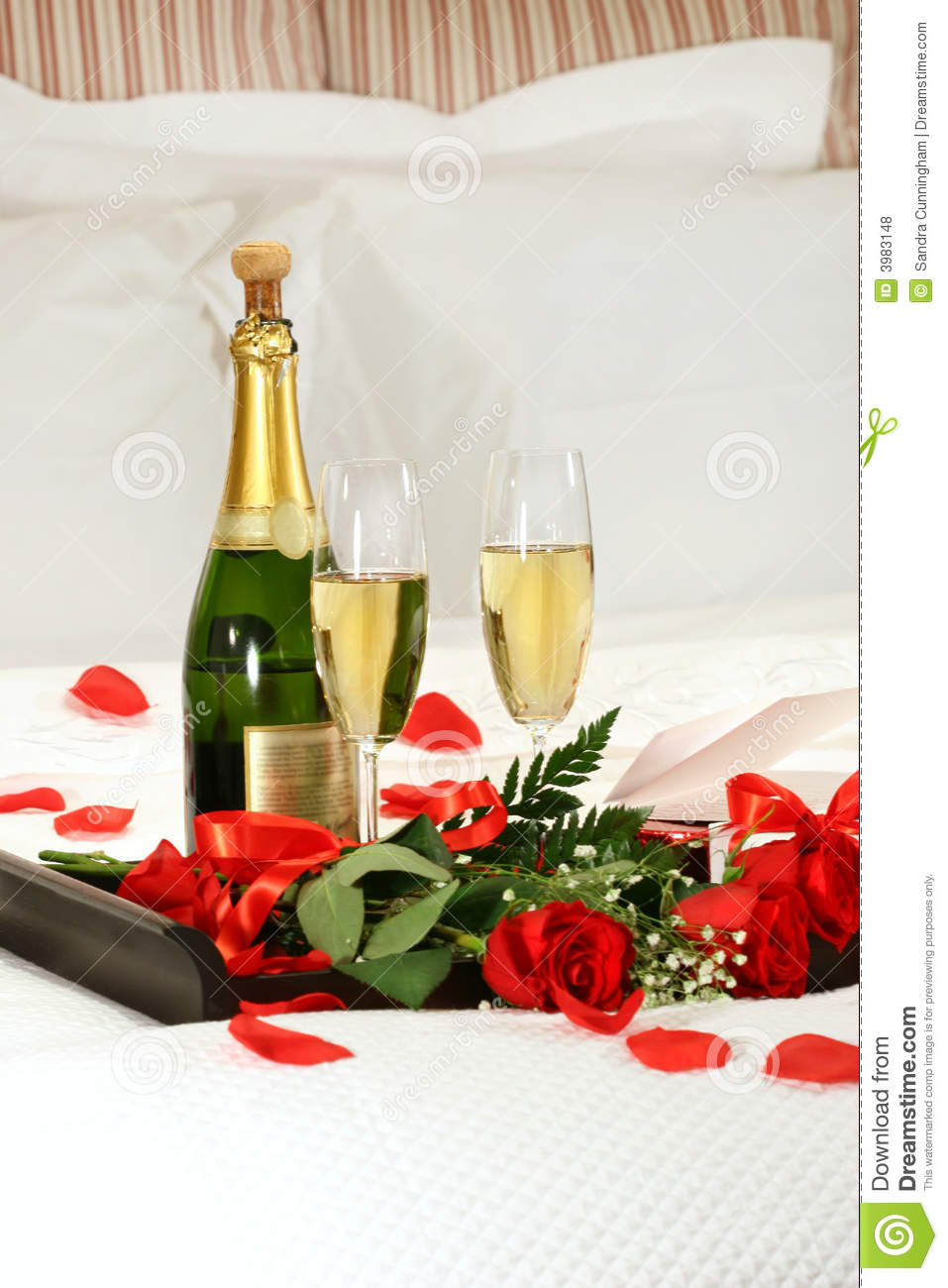 Romantic Evening With Champagne Stock Photo Image 3983148