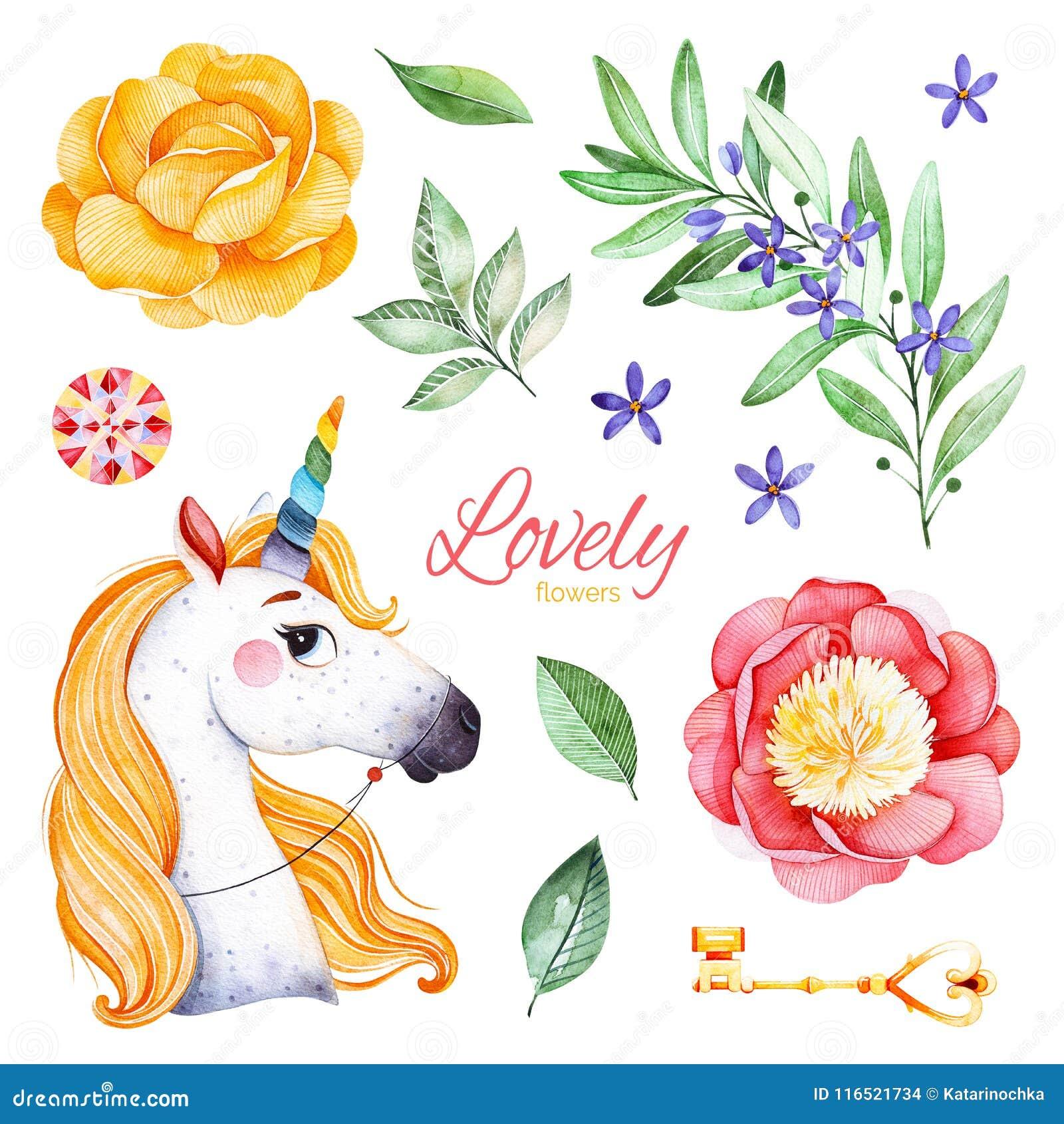 Romantic Fairy Tale Set With Peonies Flowersflowering Branch
