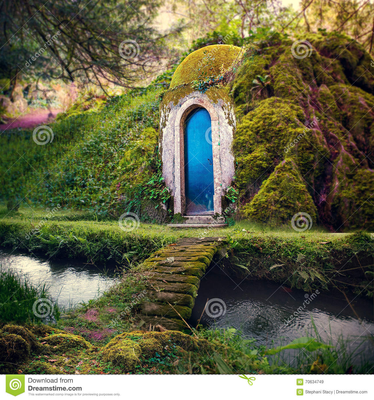 Romantic Fairytale Home In A Magical Forest Fantasy