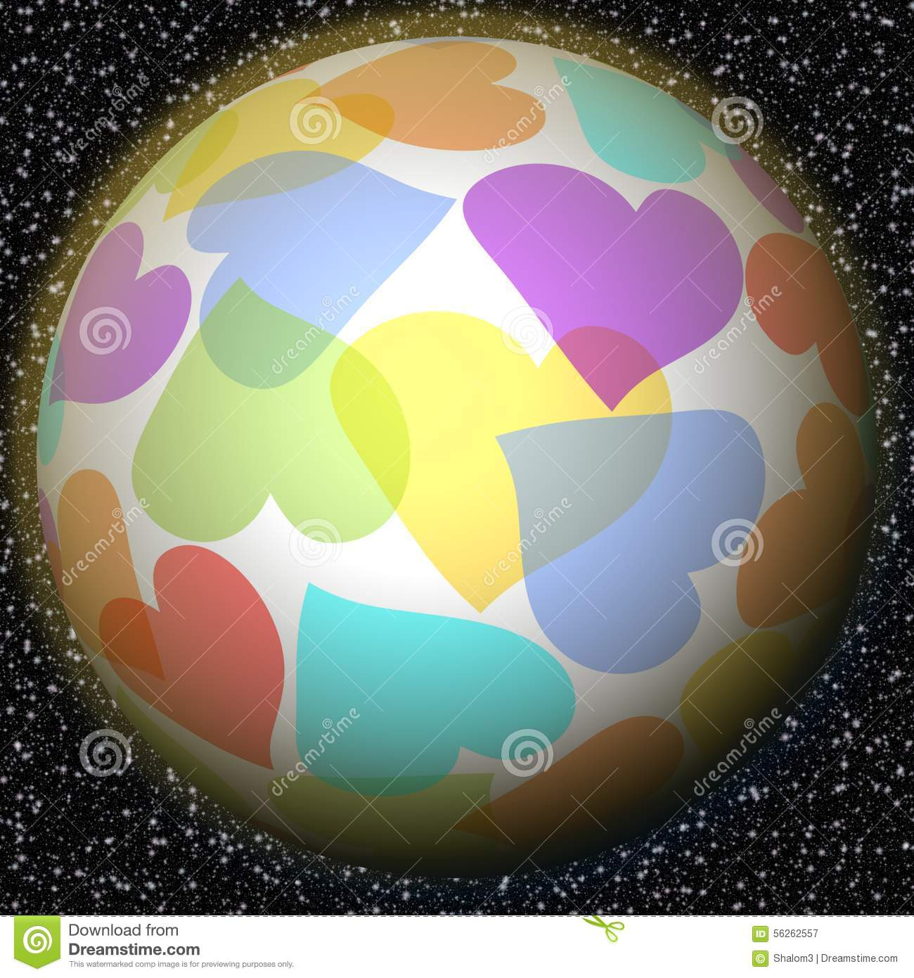 Romantic fantasy planet with rainbow heart motif on background with romantic fantasy planet with rainbow heart motif on background with galaxy stars symbol of peace love happiness luck welfare biocorpaavc Image collections