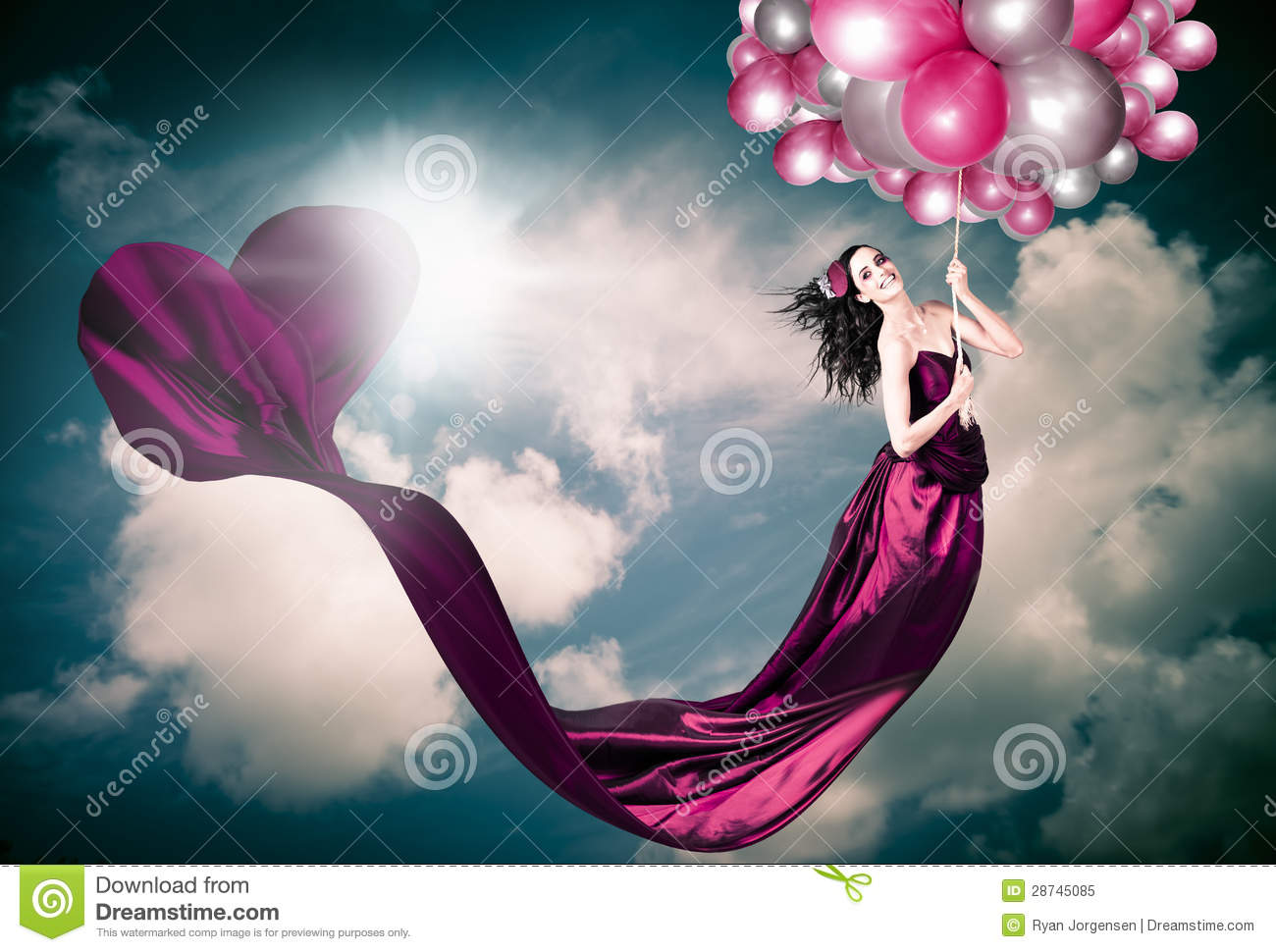 Romantic Girl In Love With Beauty And Fashion Stock Image