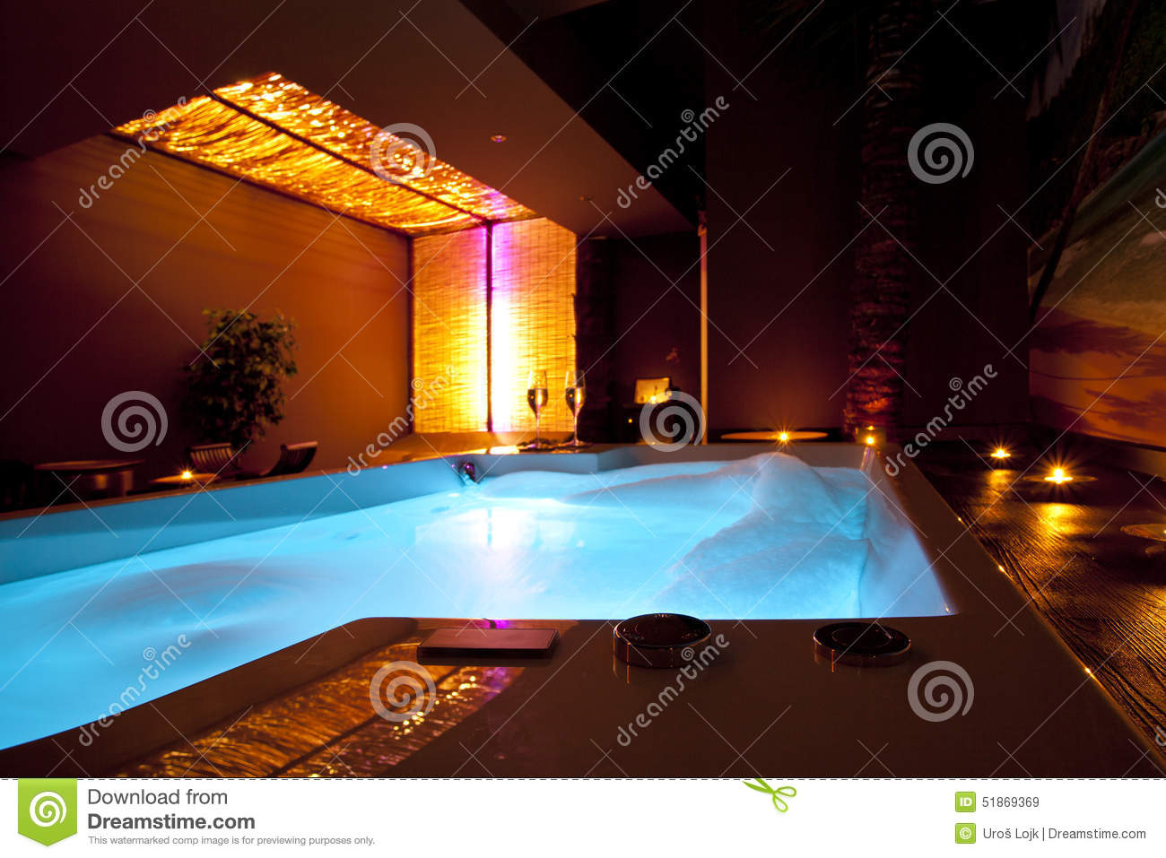 Romantic Golden Foam SPA Bath Stock Image - Image of city, jacuzzi ...