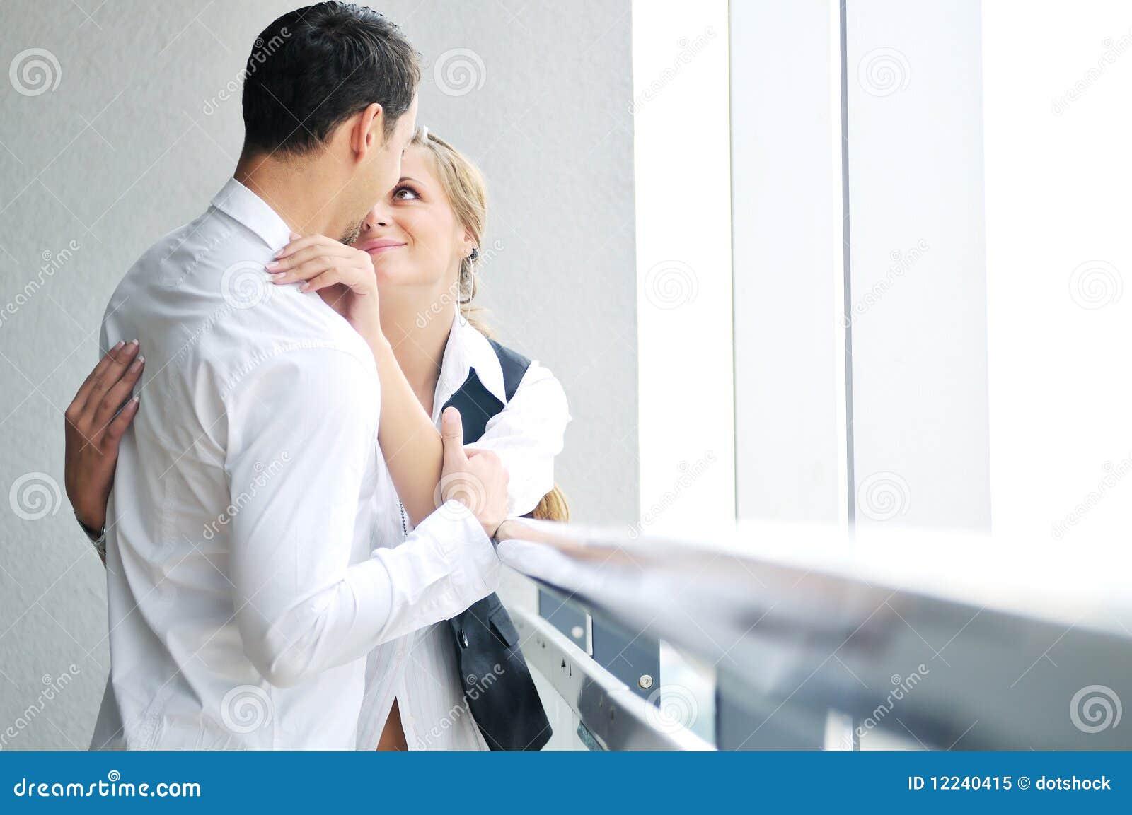 Romantic happpy couple on balcony stock image - image: 10977.