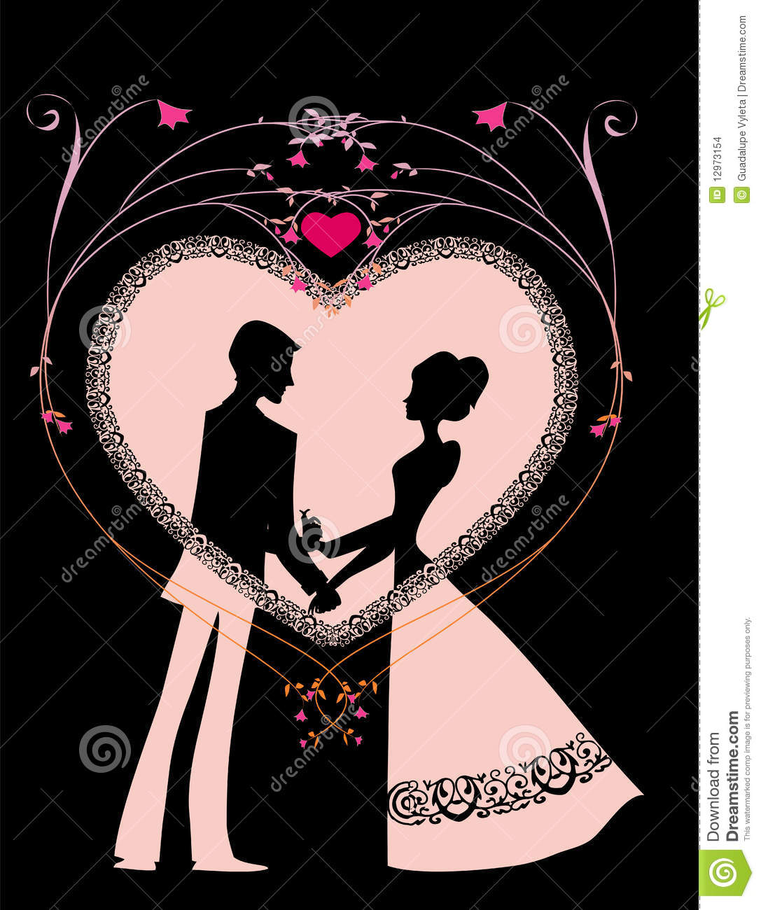 Romantic Heart Stock Images Image 12973154