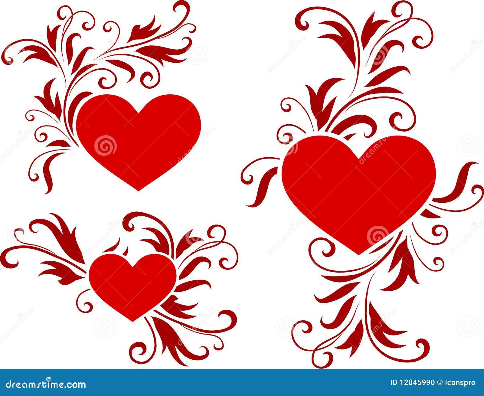 Romantic Hearts Valentine S Day Design Background Stock Vector