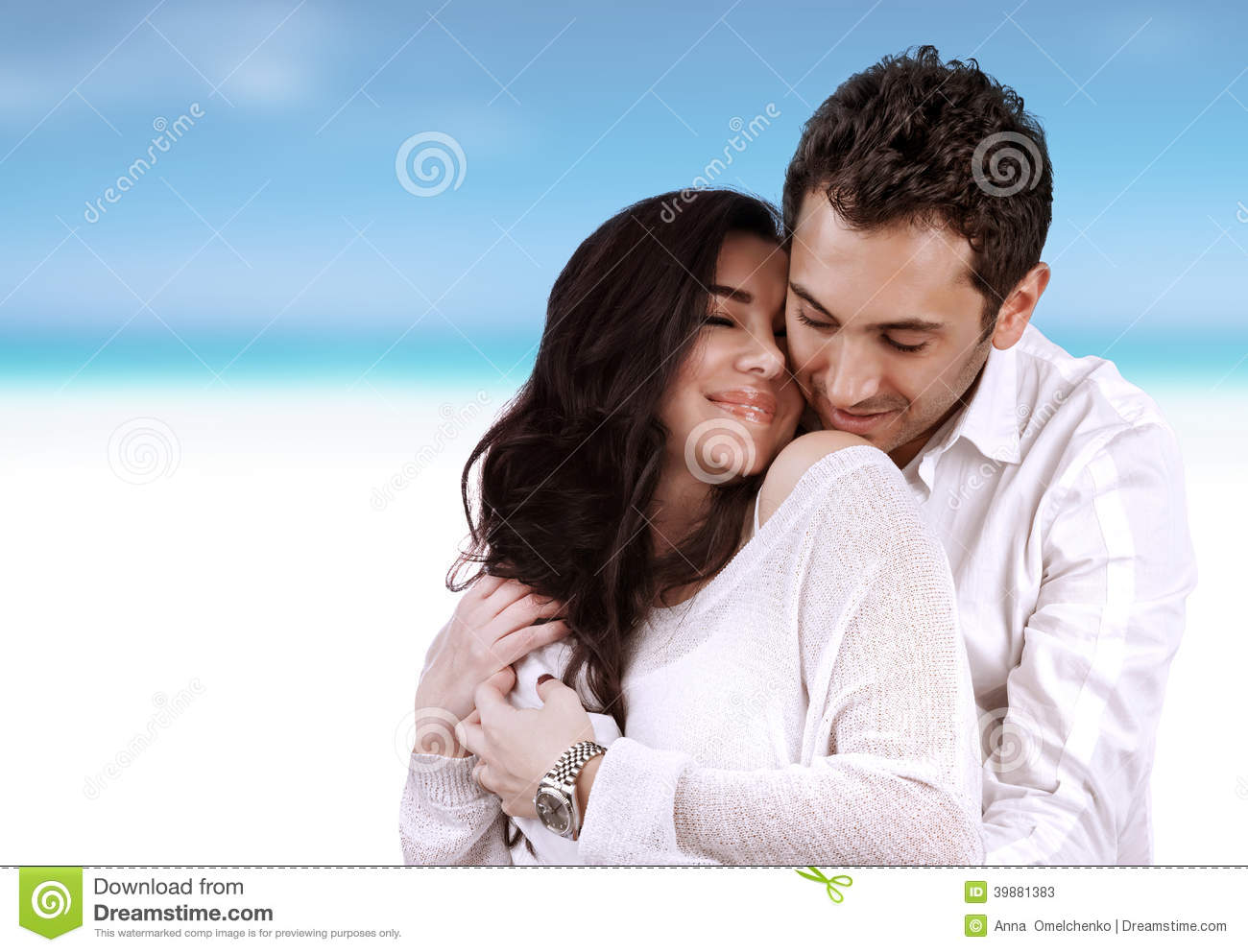 Stock Photos Romantic Honeymoon Holidays Two Beautiful Loving Couple H...